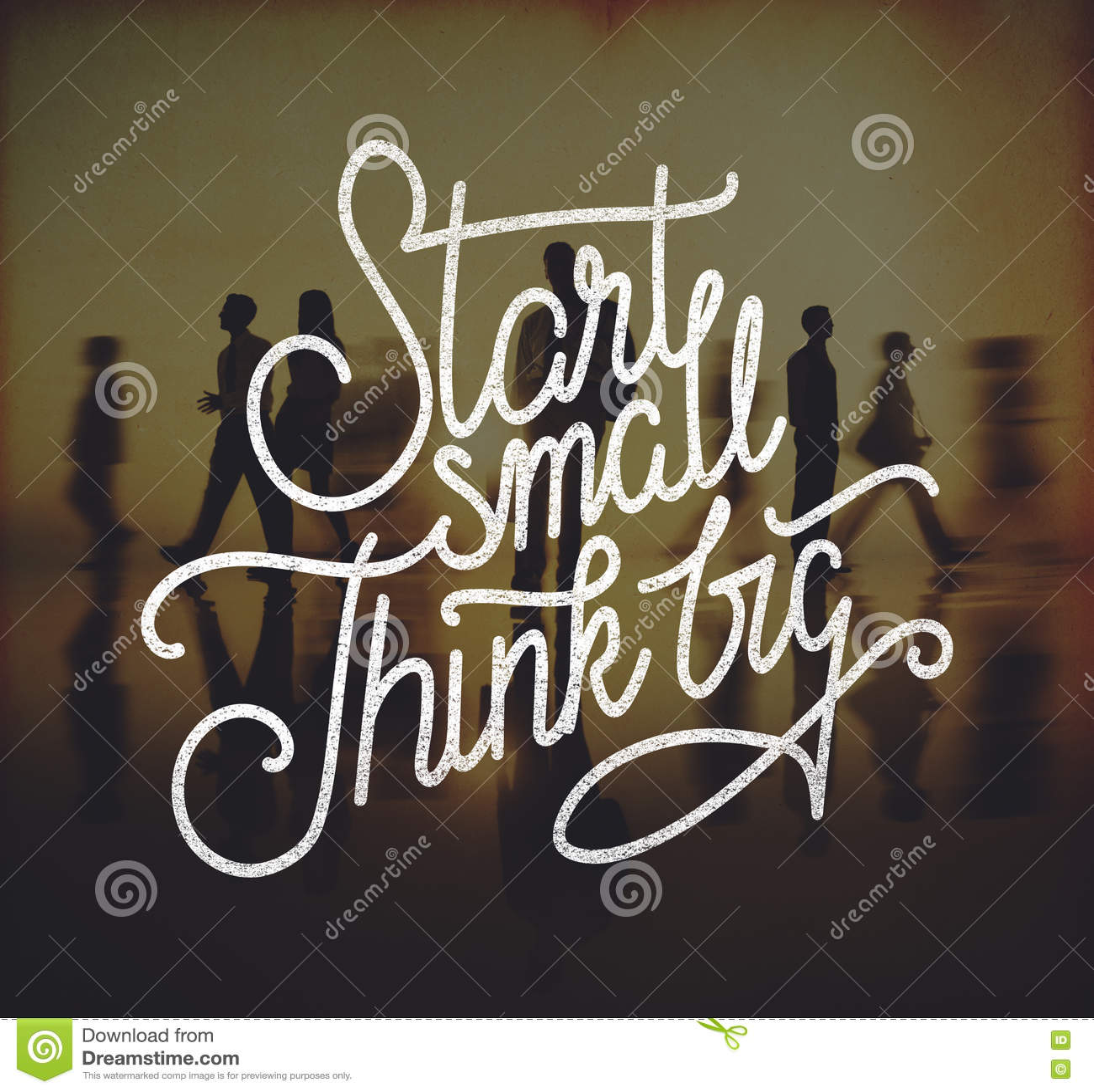 Le début petit pensent le grand concept d aspirations de créativité d idées