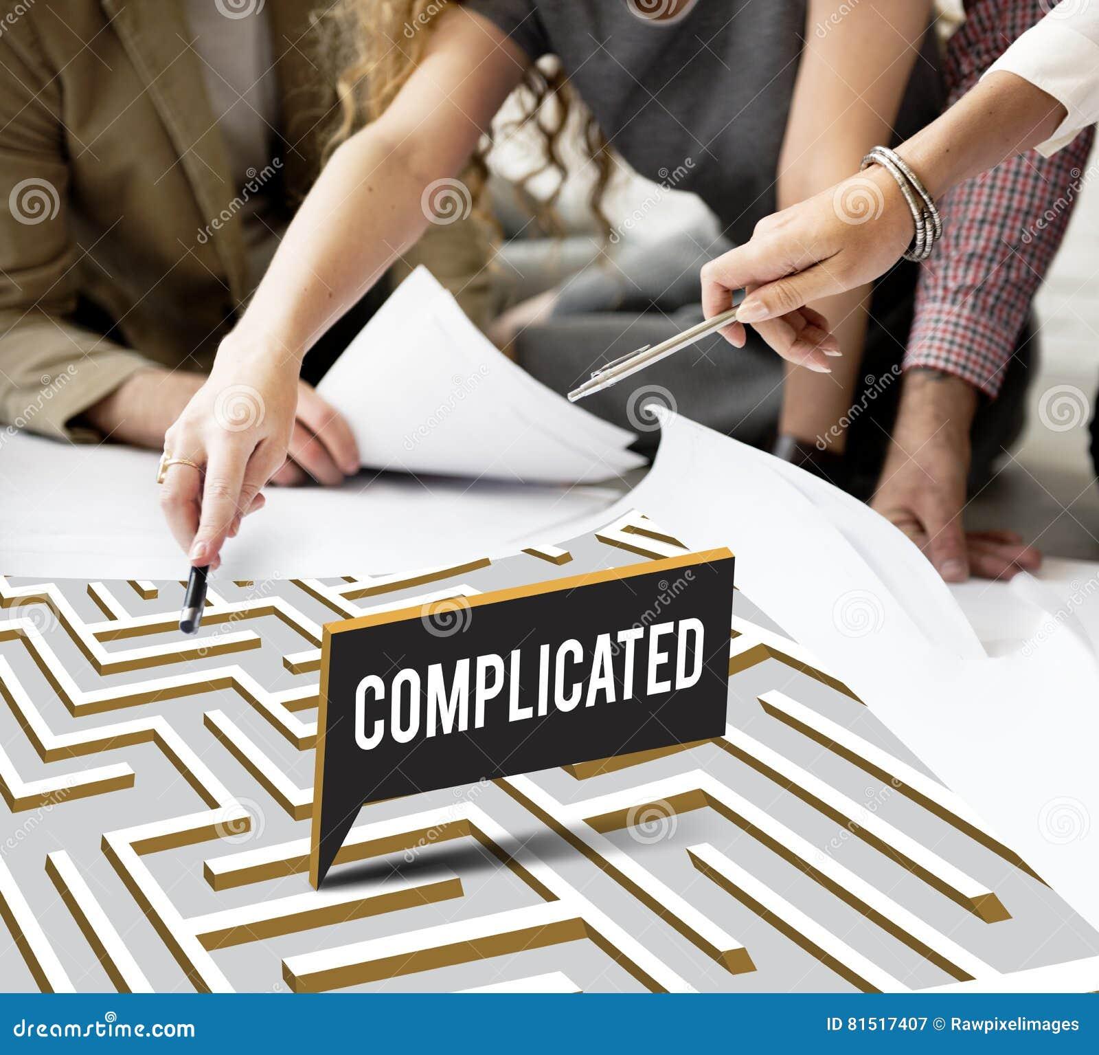 Le défi analysent Maze Concept compliqué