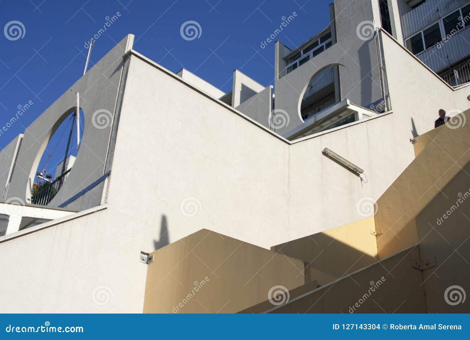 Le détail des maisons populaires a retitré Lavatrici dans l ouest Genoese