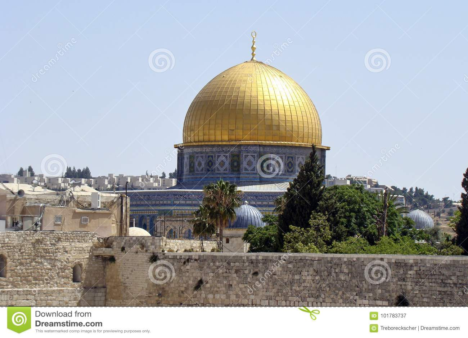 Le dôme de la roche à Jérusalem, Israël