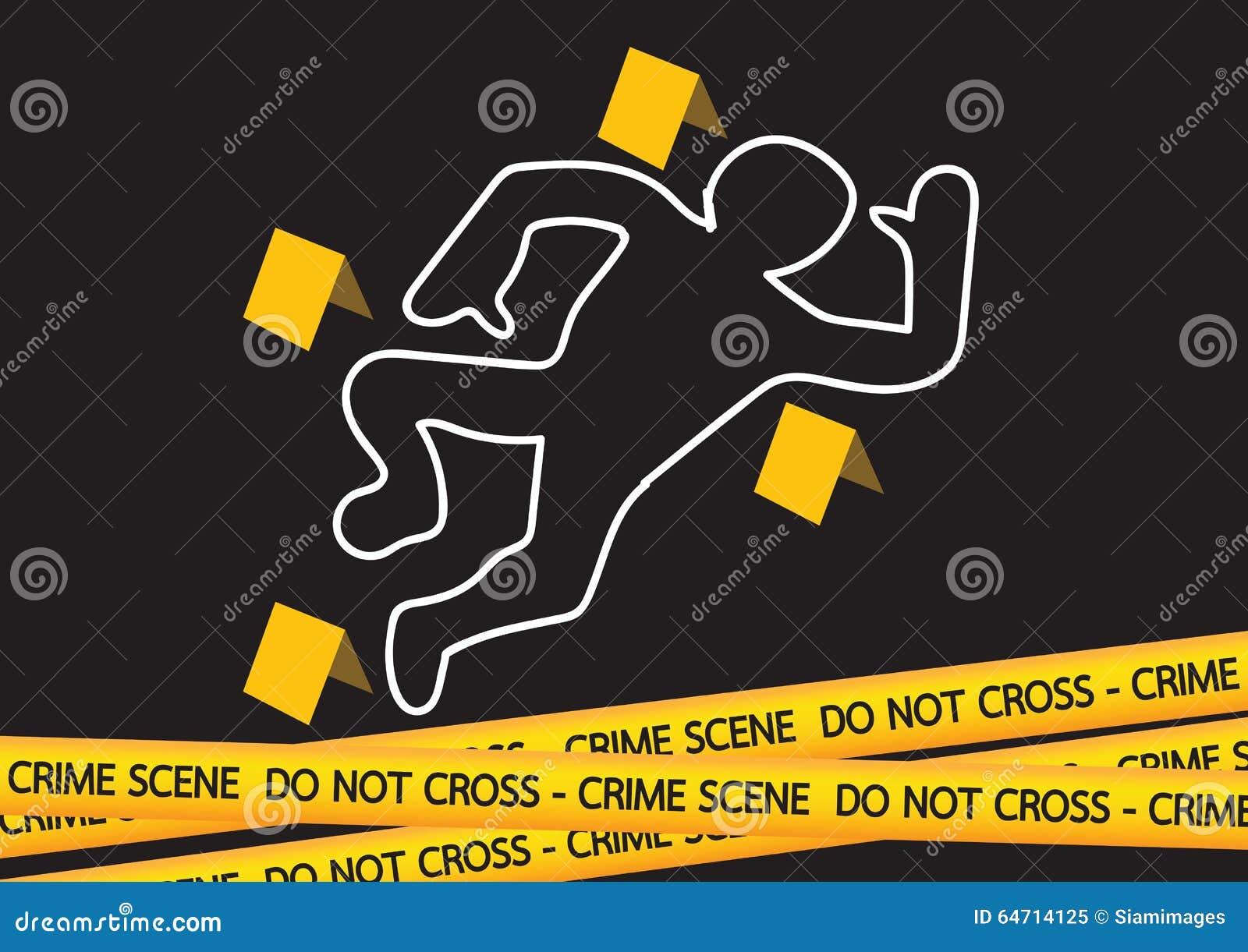 Le danger de scène du crime attache du ruban adhésif à l illustration