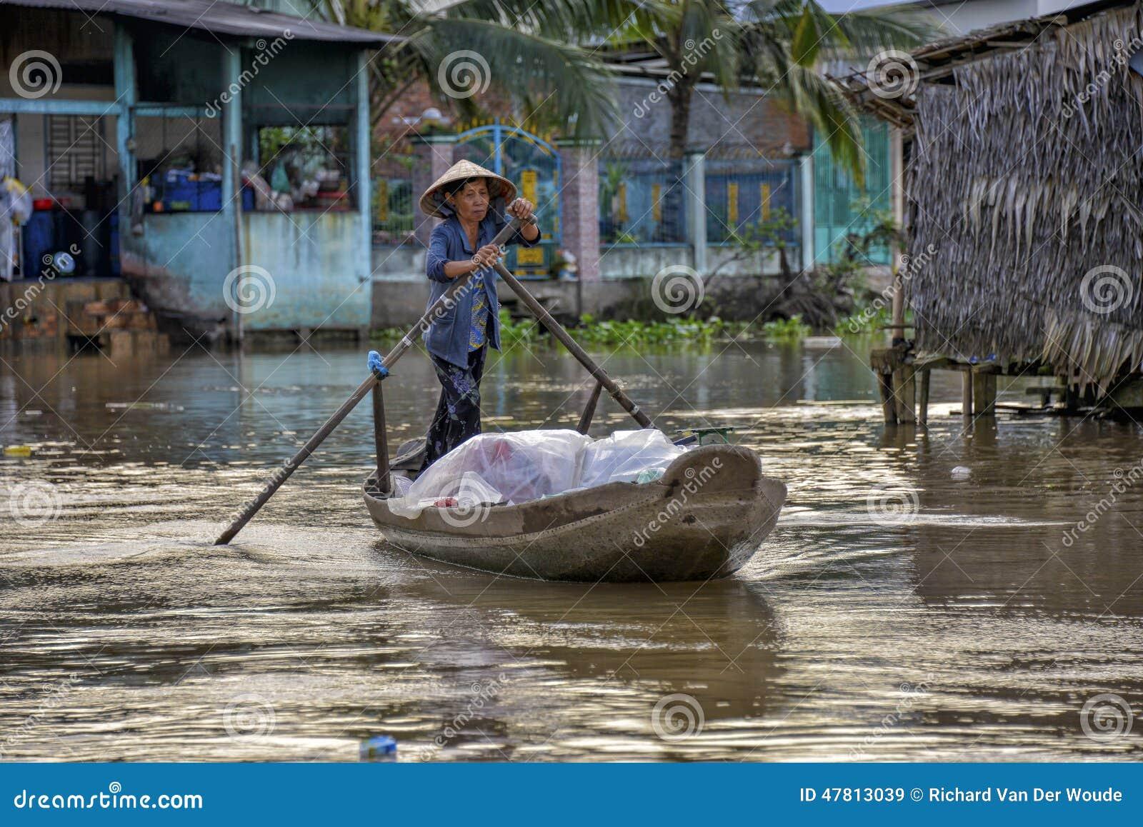 Le delta de Mekong, peut Tho, Vietnam