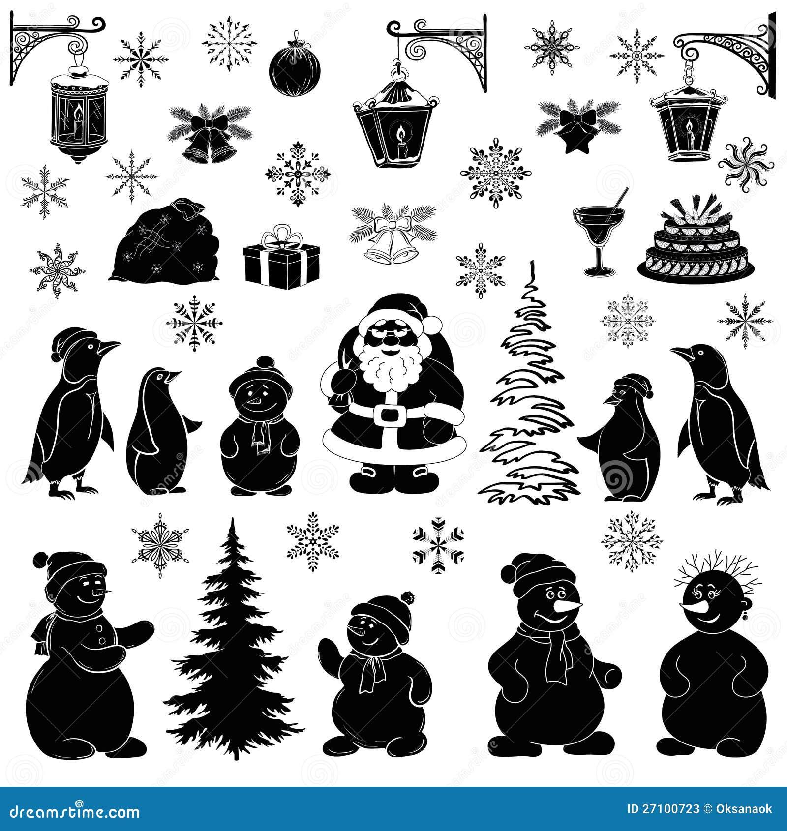 Le dessin anim de no l a plac les silhouettes noires for Silhouette de noel exterieur