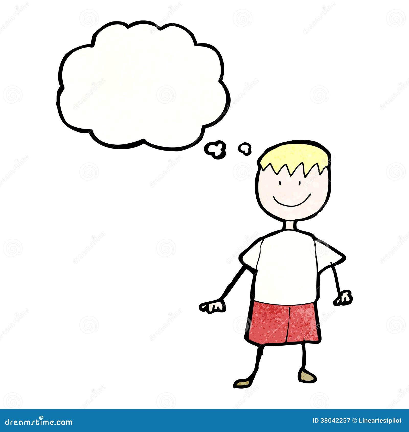 Le dessin de l 39 enfant d 39 un gar on heureux avec la bulle de - Dessin chambre d enfant ...
