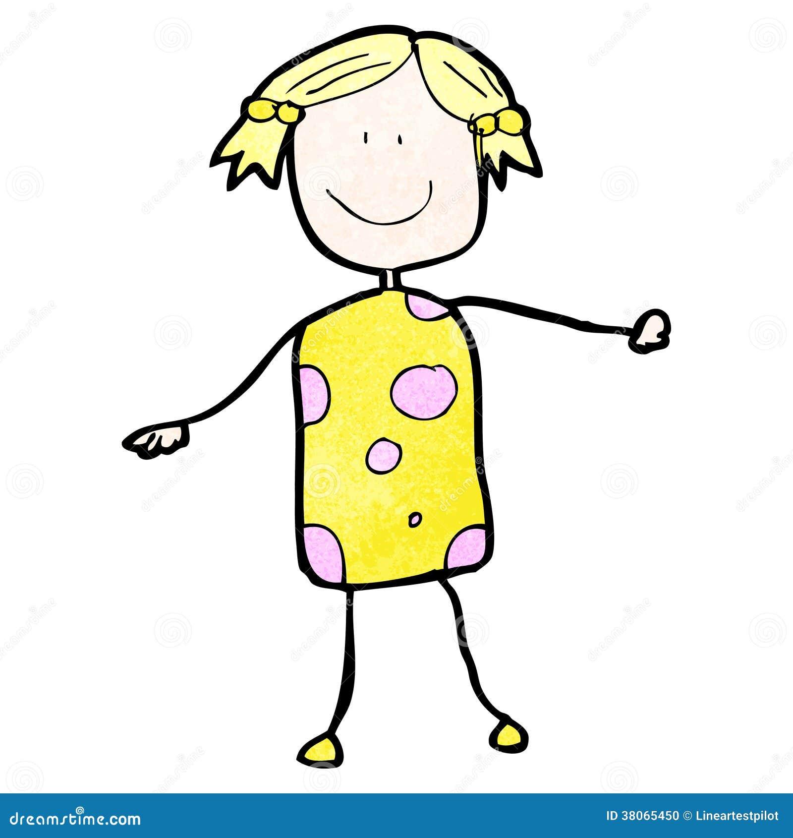 le dessin de l 39 enfant d 39 une femme illustration de vecteur illustration du traditionnel clip. Black Bedroom Furniture Sets. Home Design Ideas