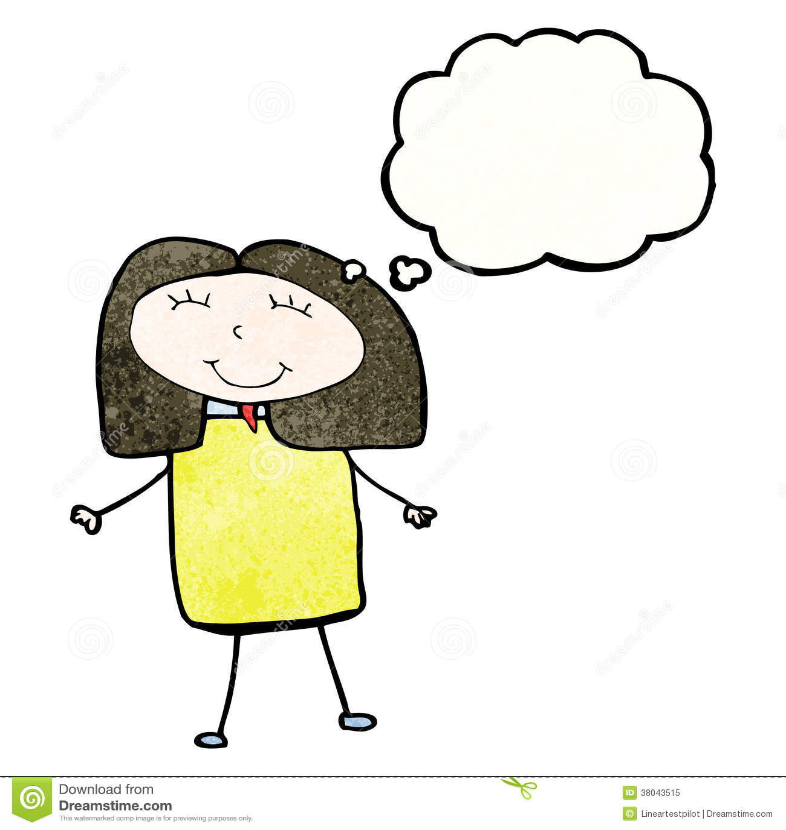 A Kid Thinking Drawing