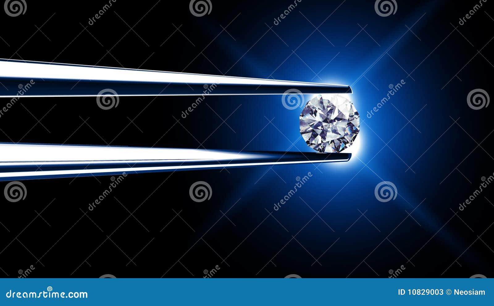 Le diamant s est retenu par des brucelles