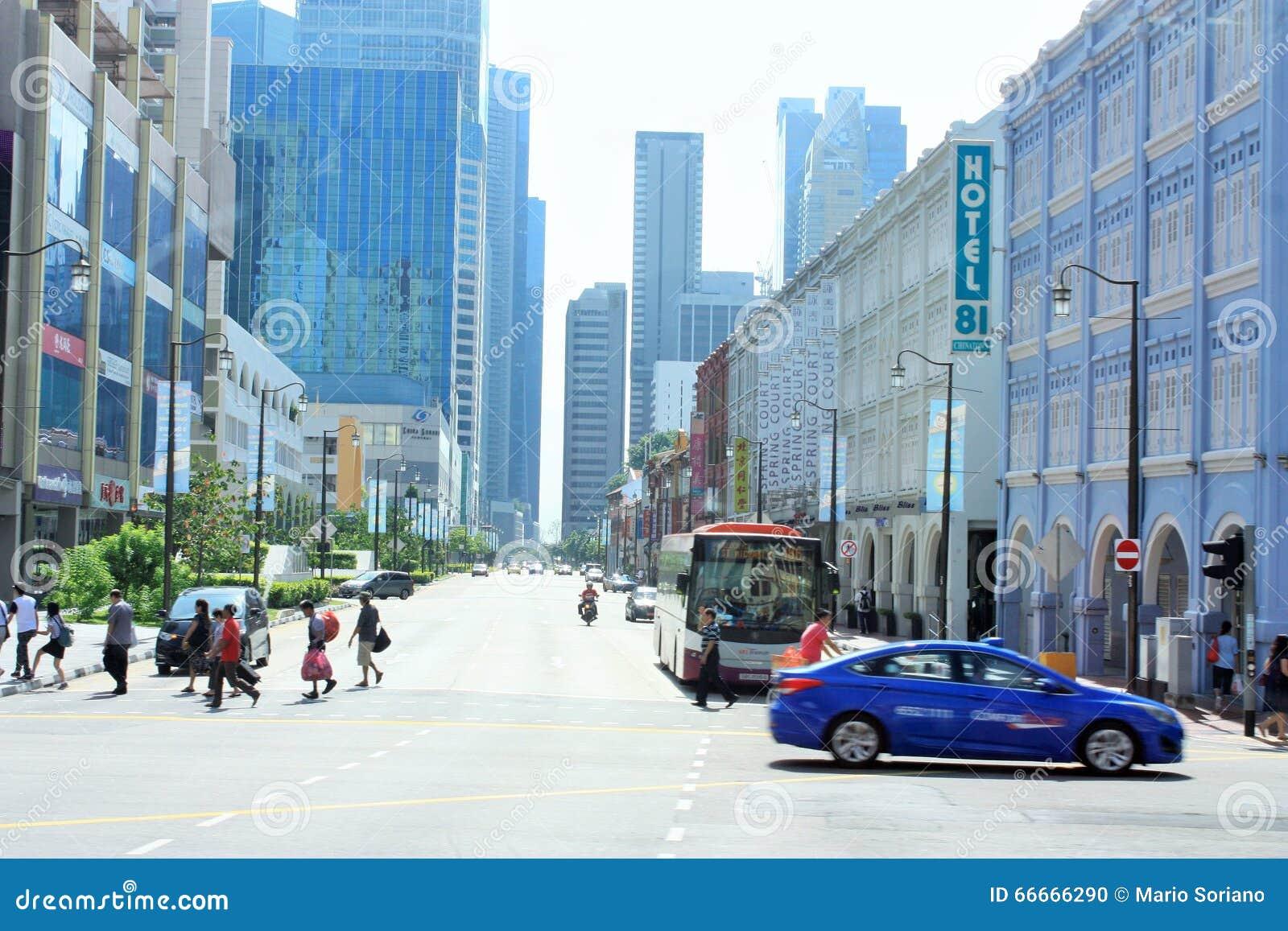 Le district des affaires et le Chinatown centraux de Singapour