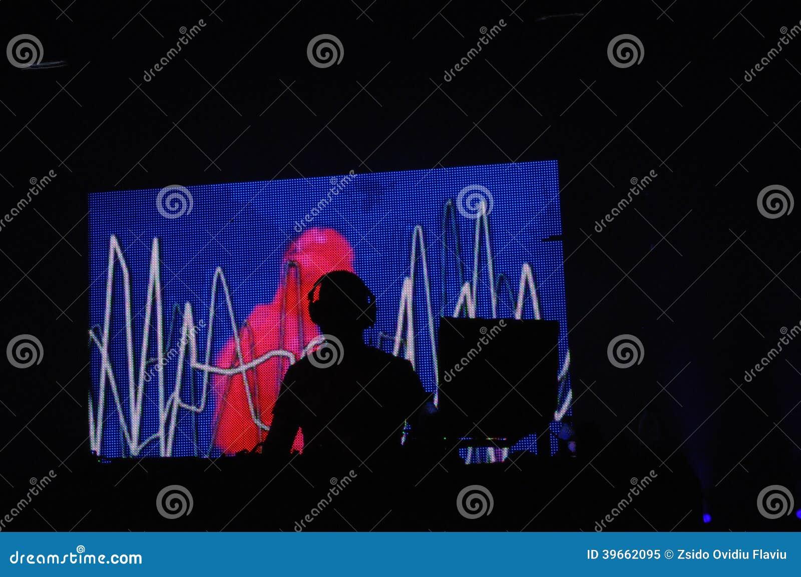 Le DJ au concert