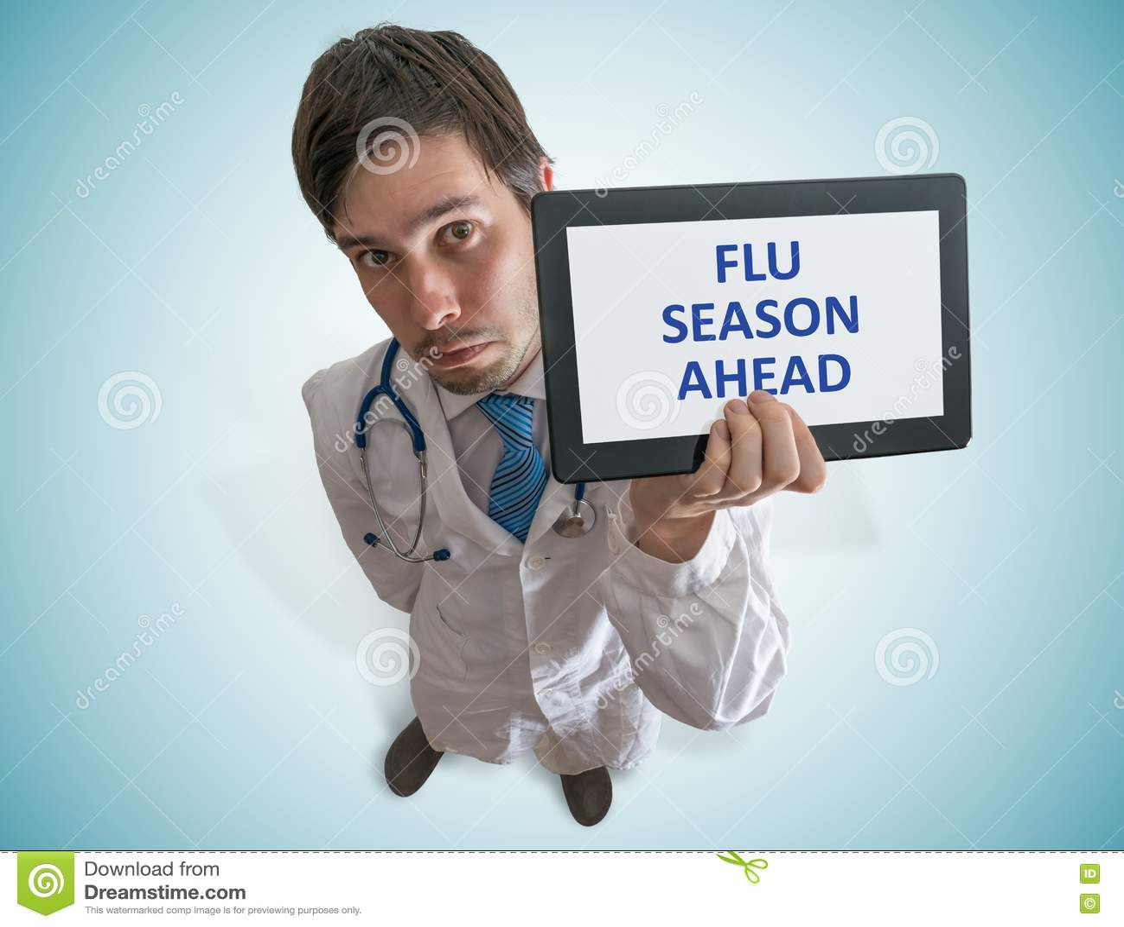 Le docteur met en garde contre la saison de la grippe en avant Vue à partir de dessus