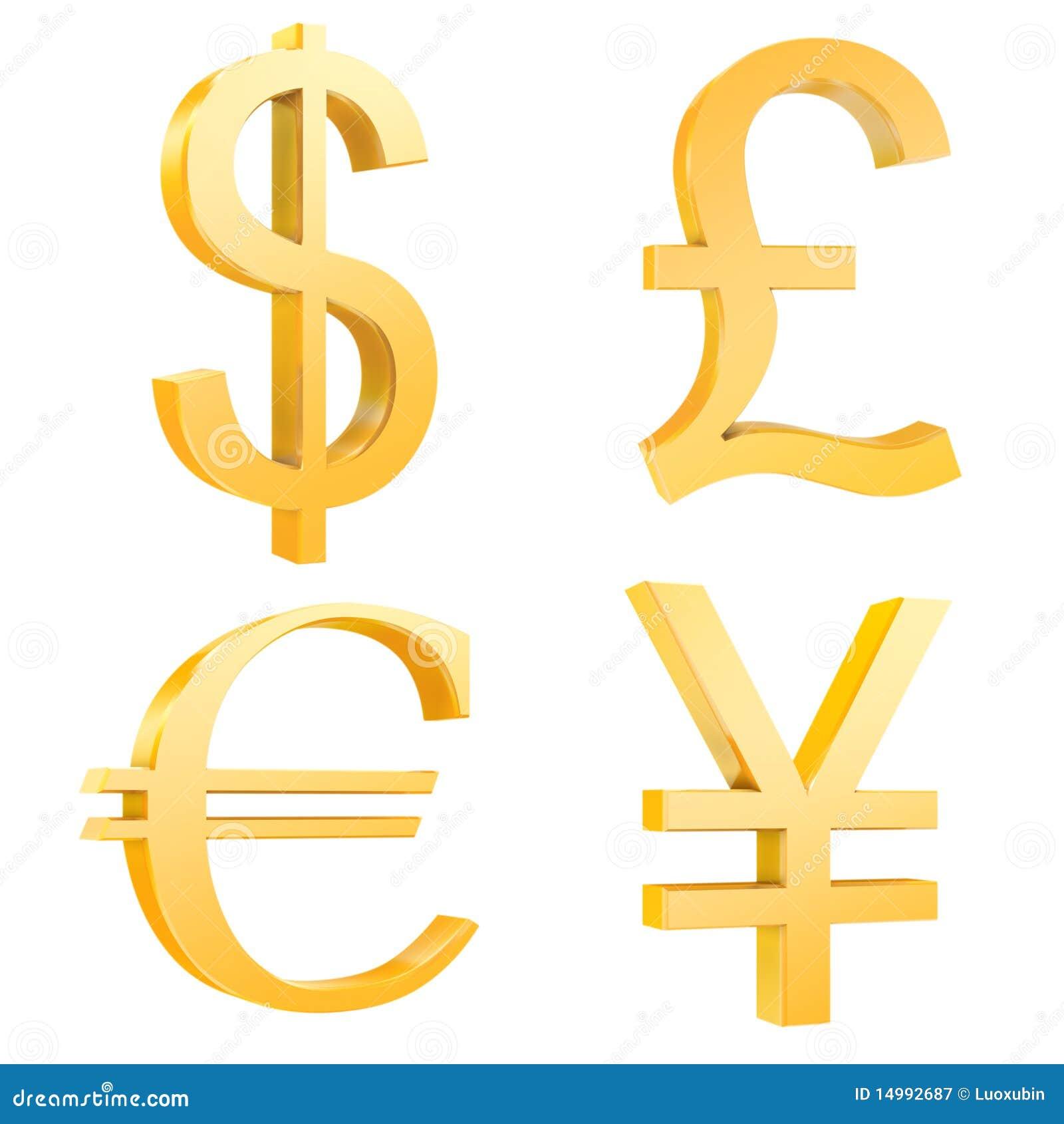le dollar d 39 or livre euro yuan signe illustration stock illustration du c t finances. Black Bedroom Furniture Sets. Home Design Ideas