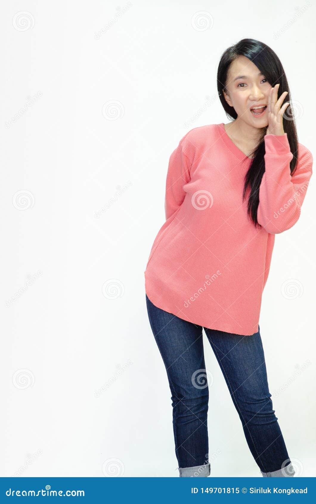 Le donne asiatiche stanno sorridendo