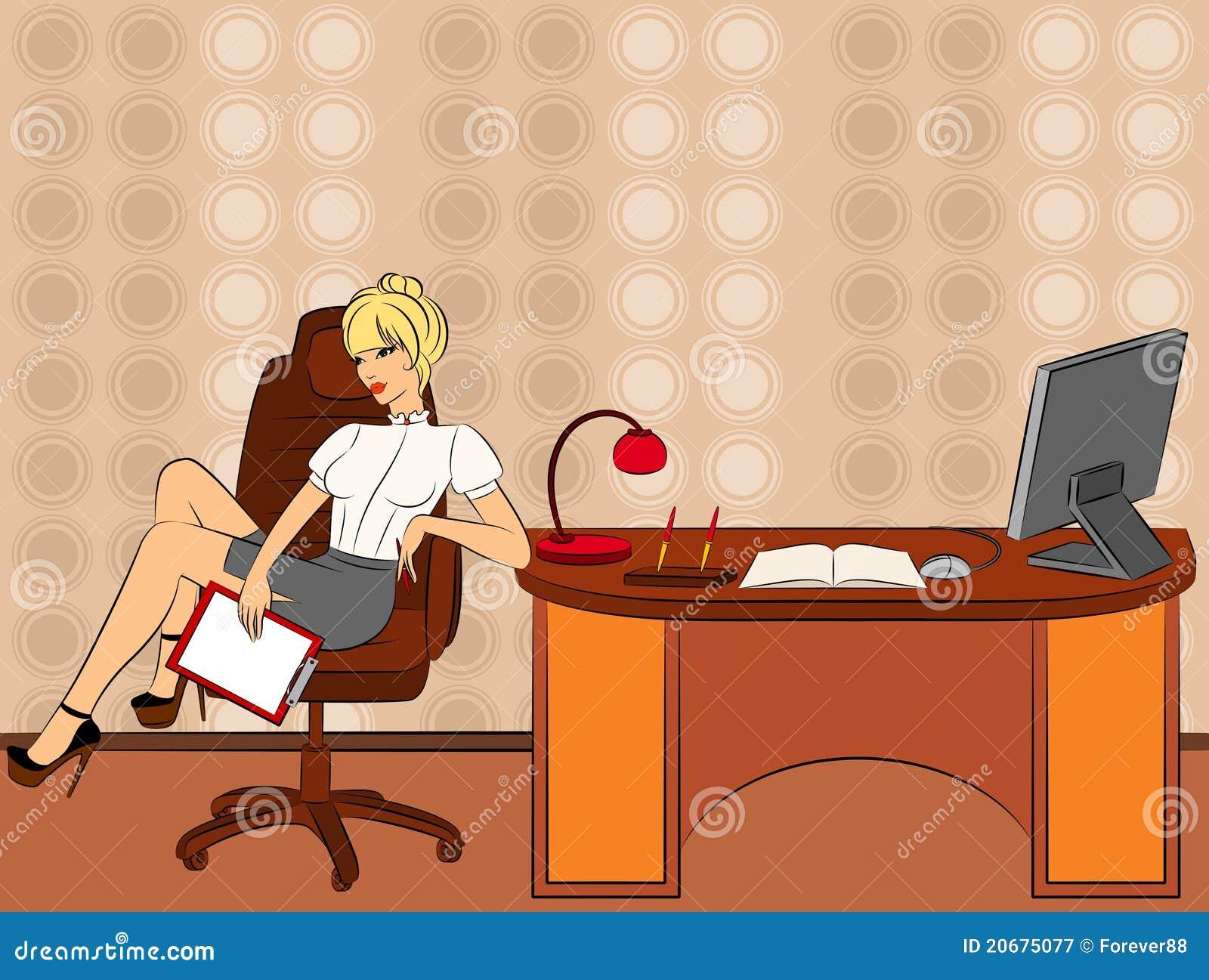 Le donne di affari si siede in una presidenza in ufficio for Ufficio presidenza