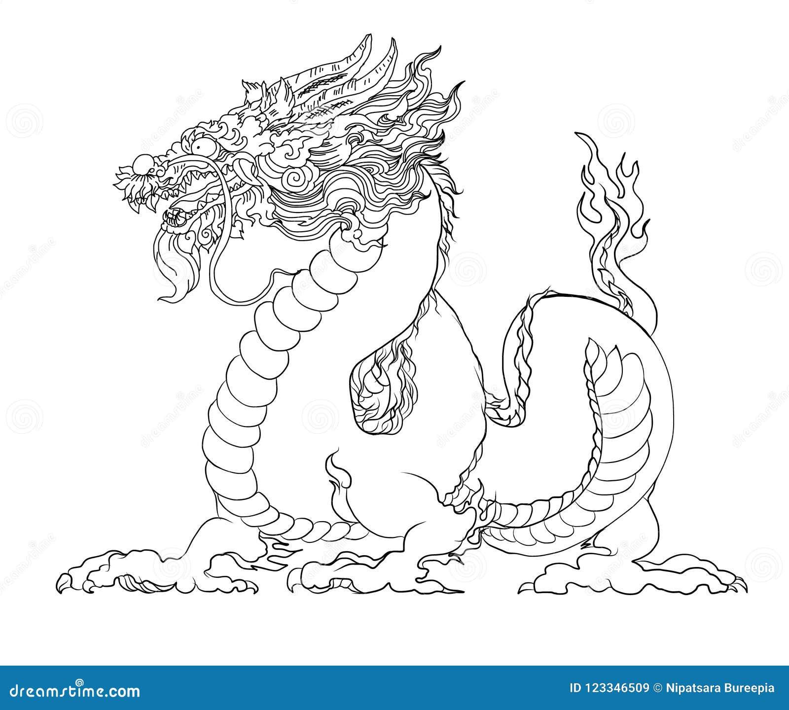 Coloriage Magique Japon.Le Dragon Rouge Est Les Creatures Magiques Connues En