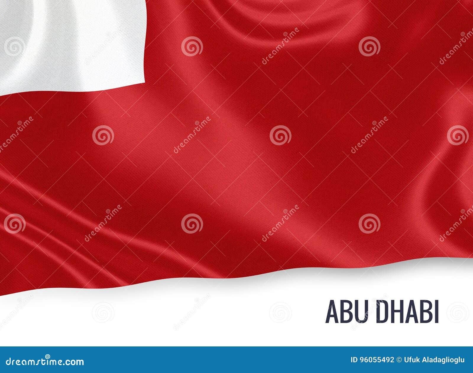 Le drapeau d Abu Dhabi d état des Emirats Arabes Unis