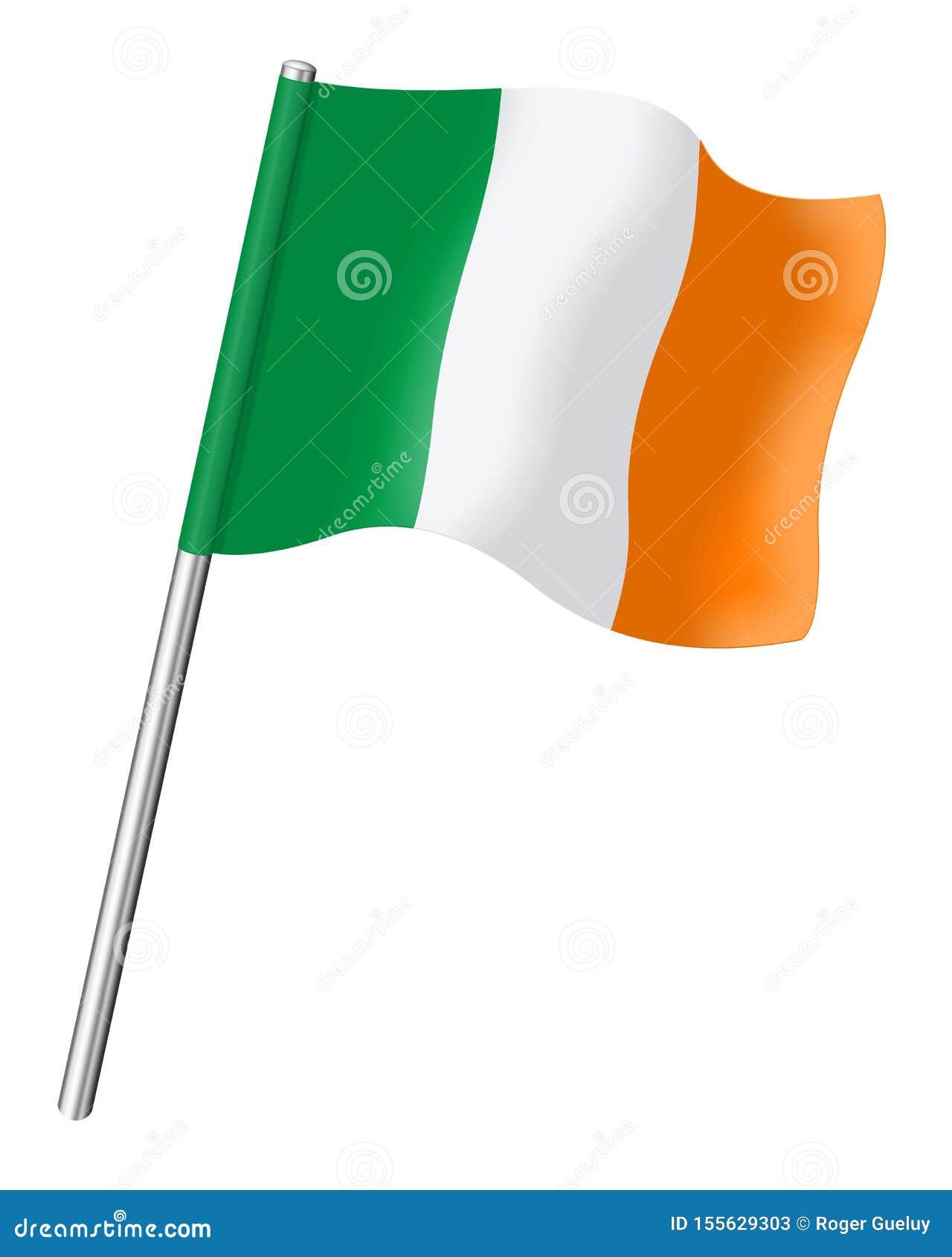 Le drapeau de l Irlande a isolé sur le fond blanc