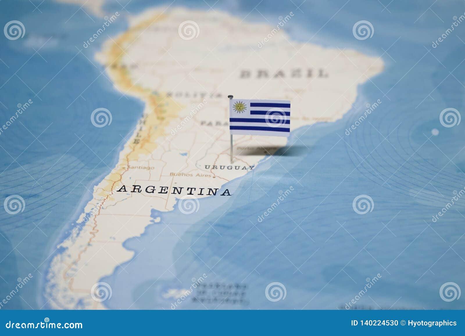 Uruguay carte du monde