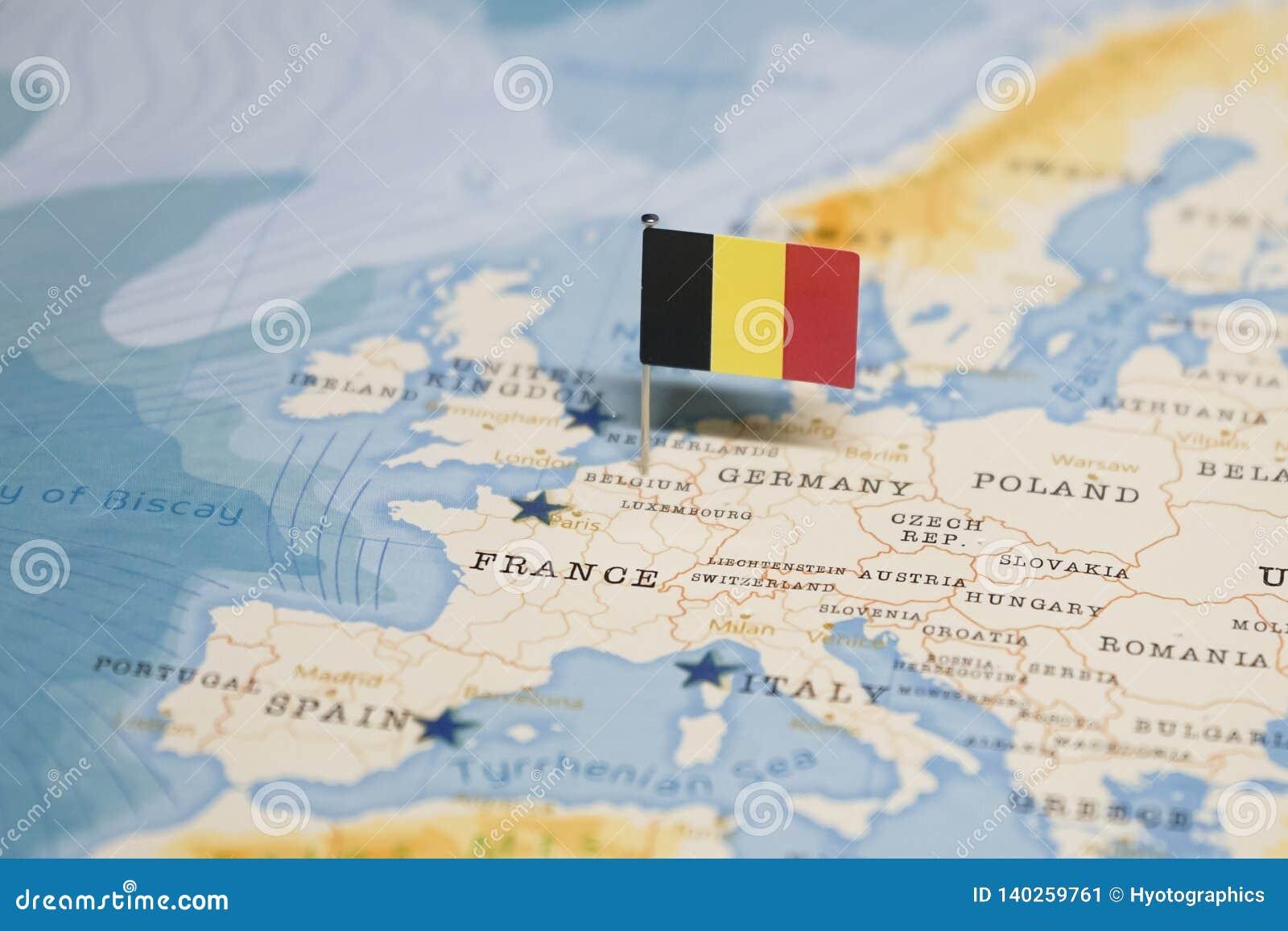 belgique carte du monde