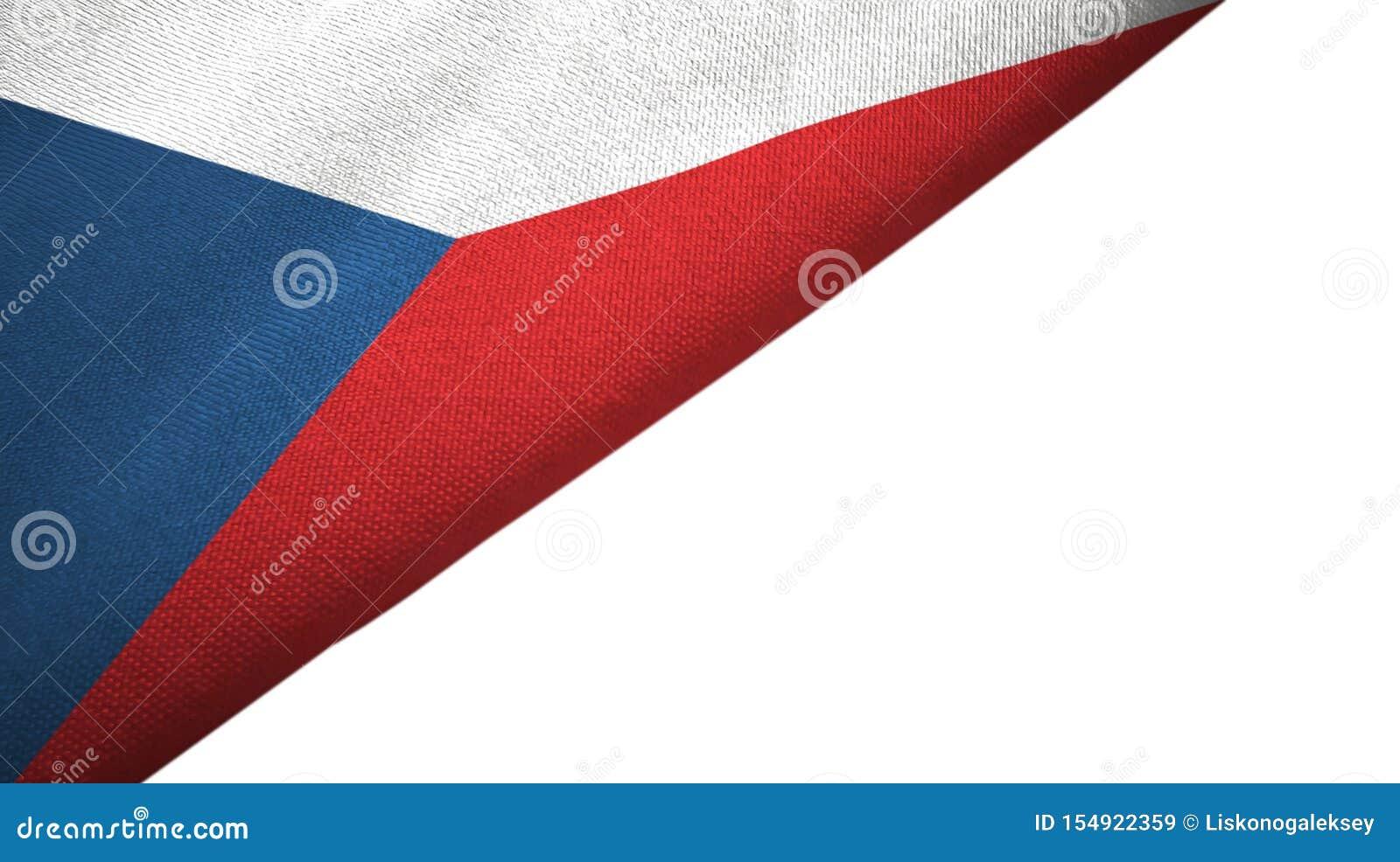 Le drapeau de République Tchèque a laissé le côté avec l espace vide de copie