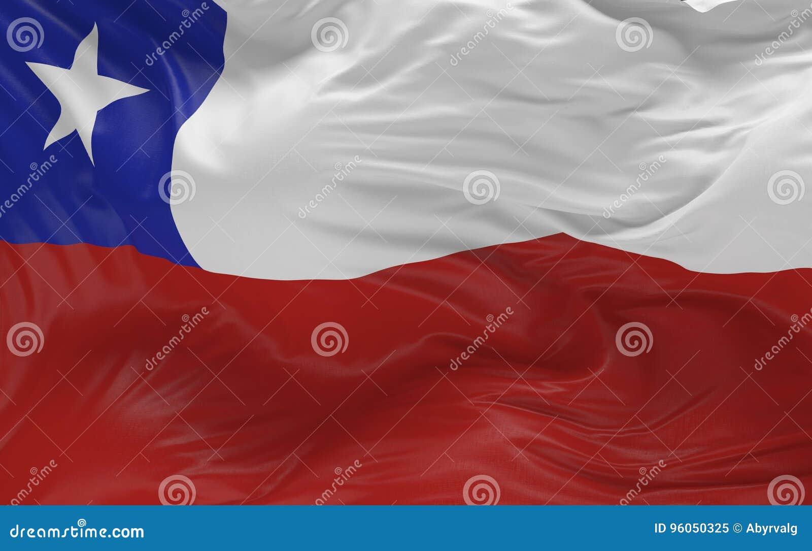 Le drapeau du Chili ondulant dans le vent 3d rendent