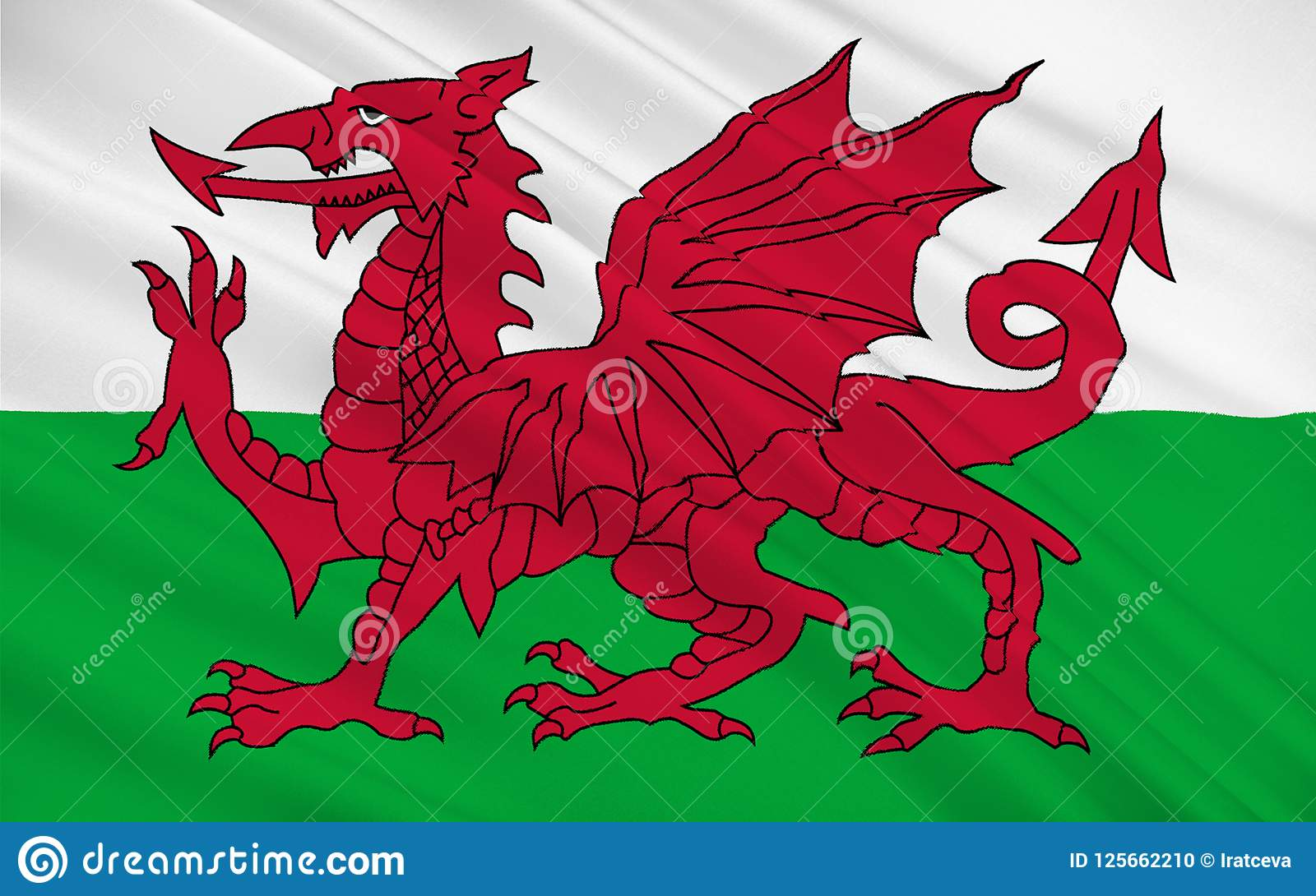 Le drapeau du Pays de Galles est pays du Royaume-Uni, Grande-Bretagne