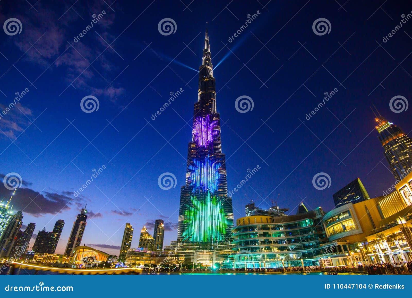 Le Dubai Emirats Arabes Unis 5 Janvier 2018 Tour De
