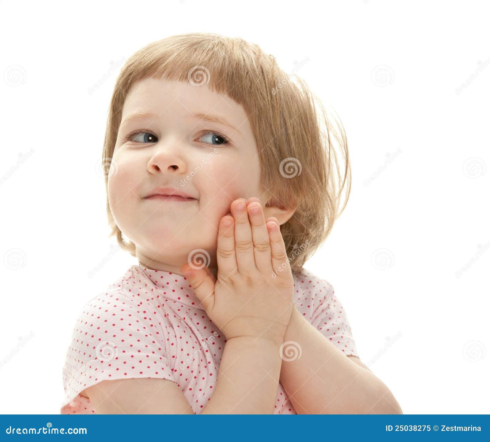 Le för stående för barn lyckligt