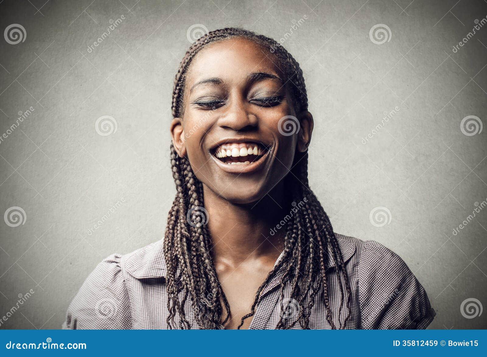Le för svart kvinna
