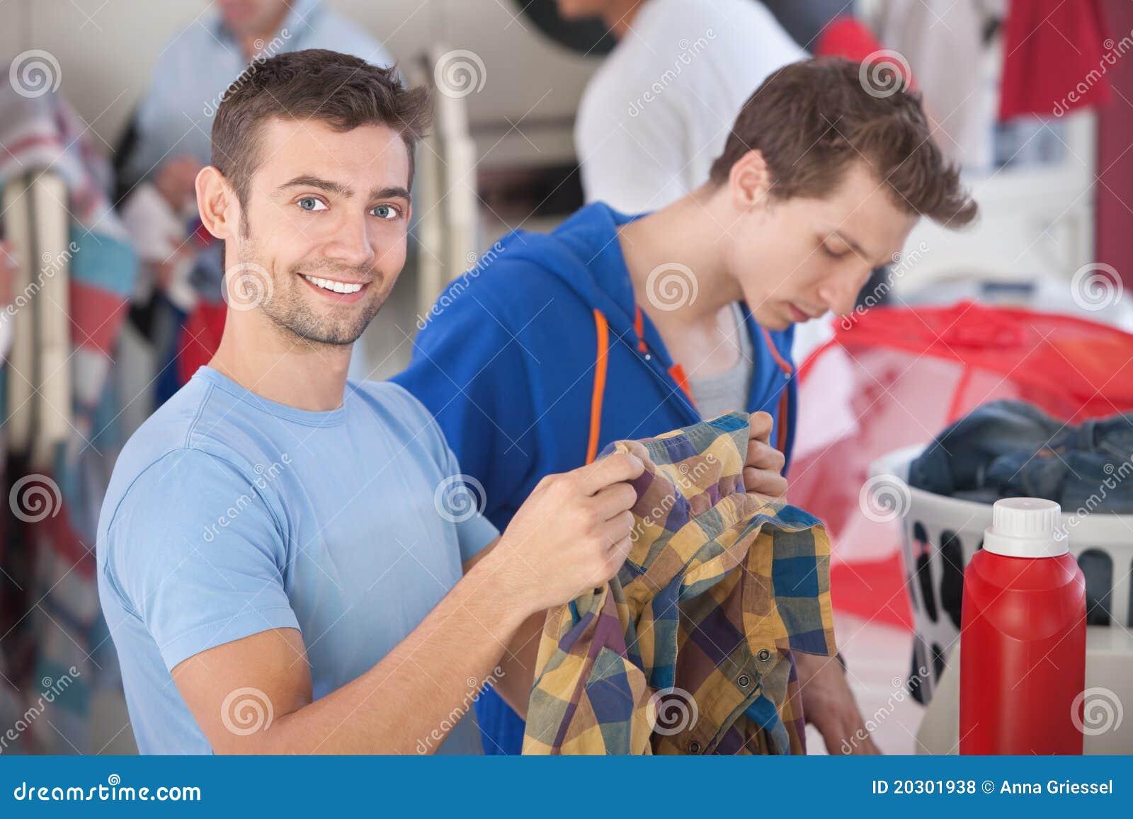 Le för tvättinrättningman