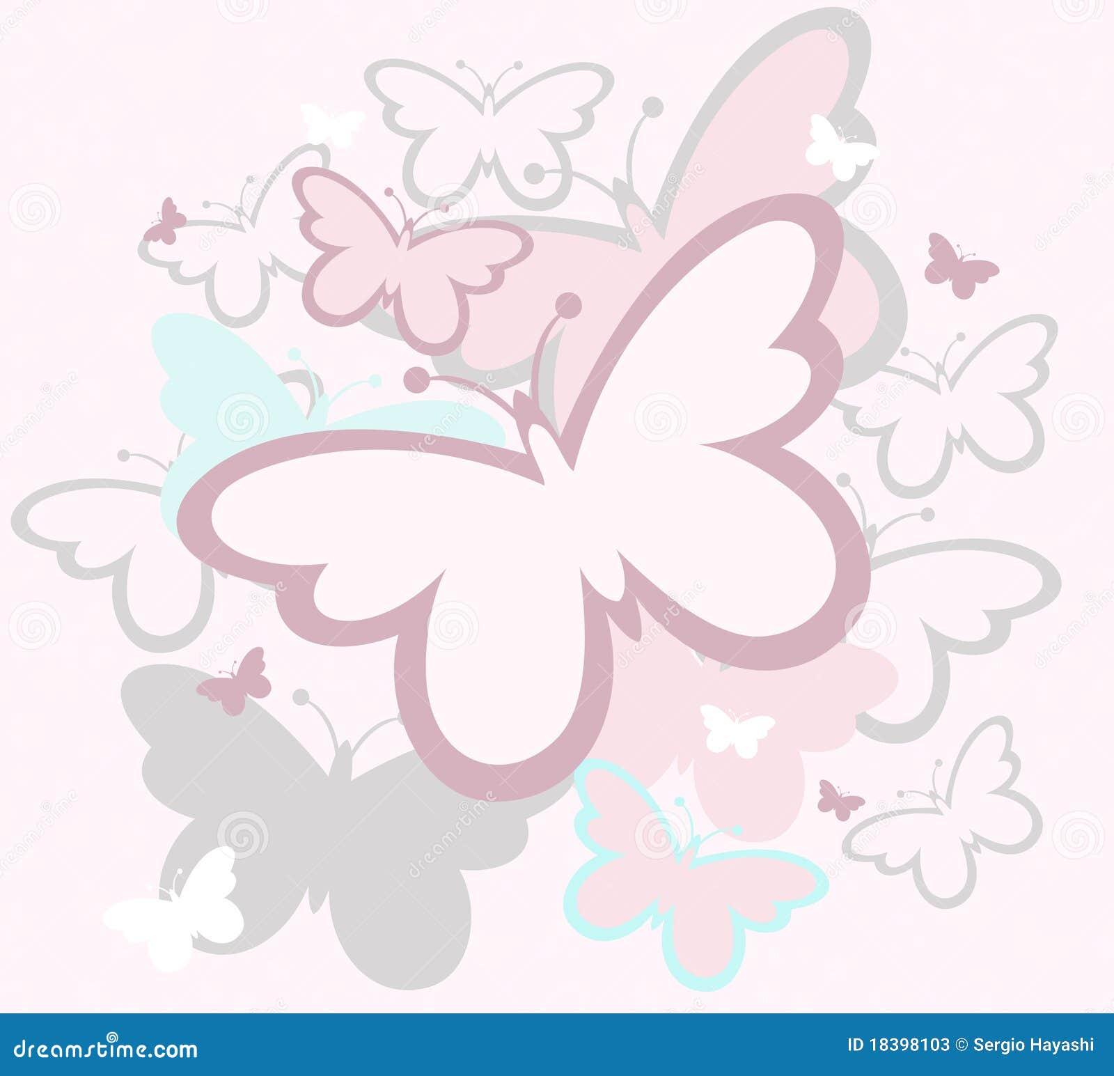 Le Farfalle Balzano Disegno Illustrazione Vettoriale Illustrazione