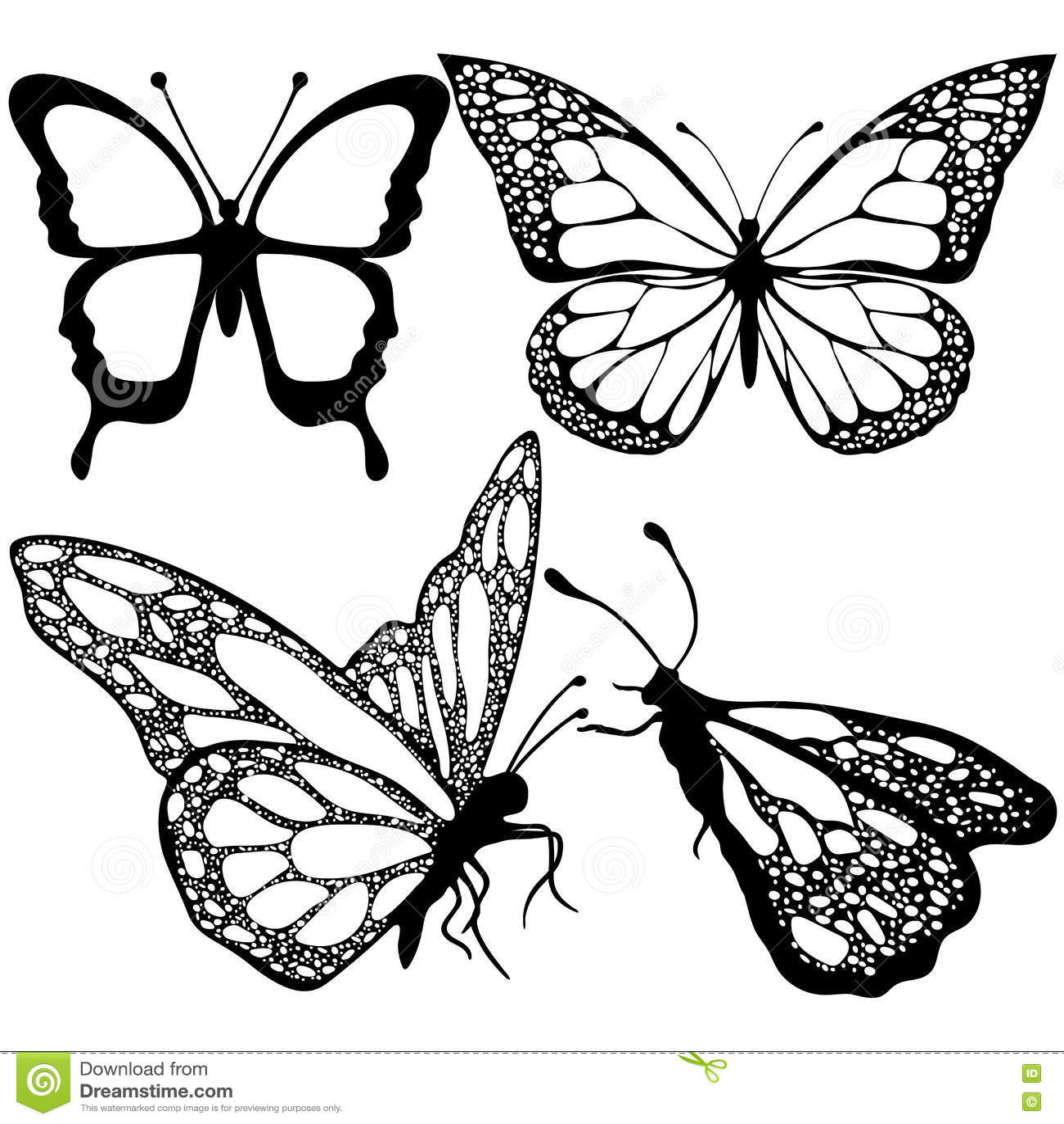 Le farfalle hanno messo monocromio libro da colorare for Immagini farfalle da ritagliare