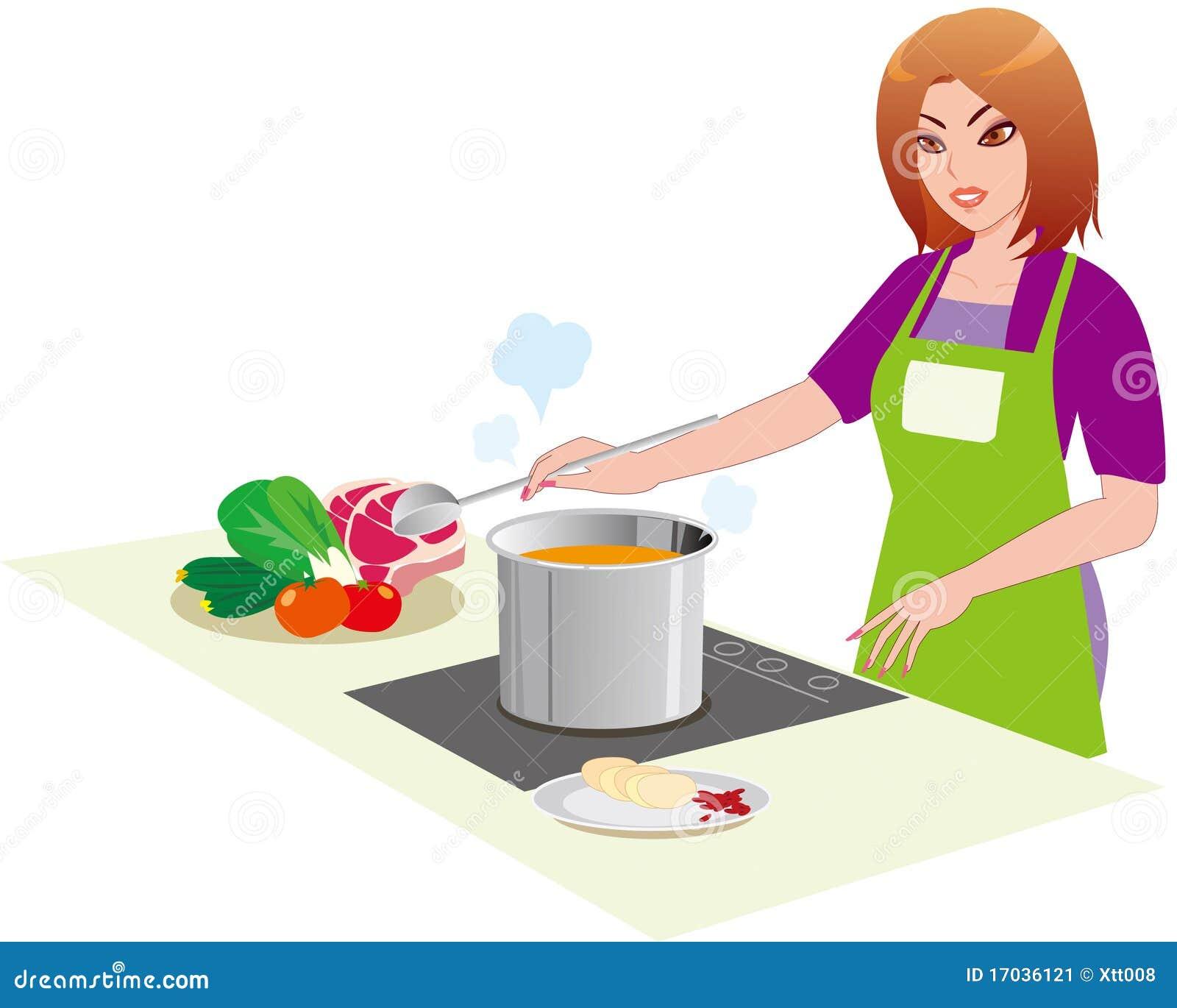 Le femme dans la cuisine image stock image 17036121 for Asticots dans la cuisine
