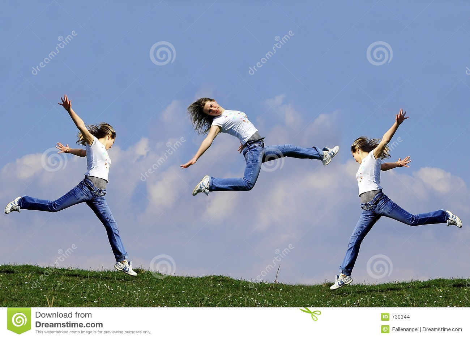 Le femme sautent