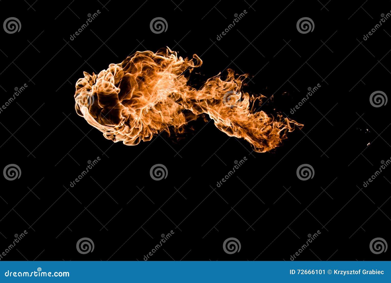 Le feu à l arrière-plan noir