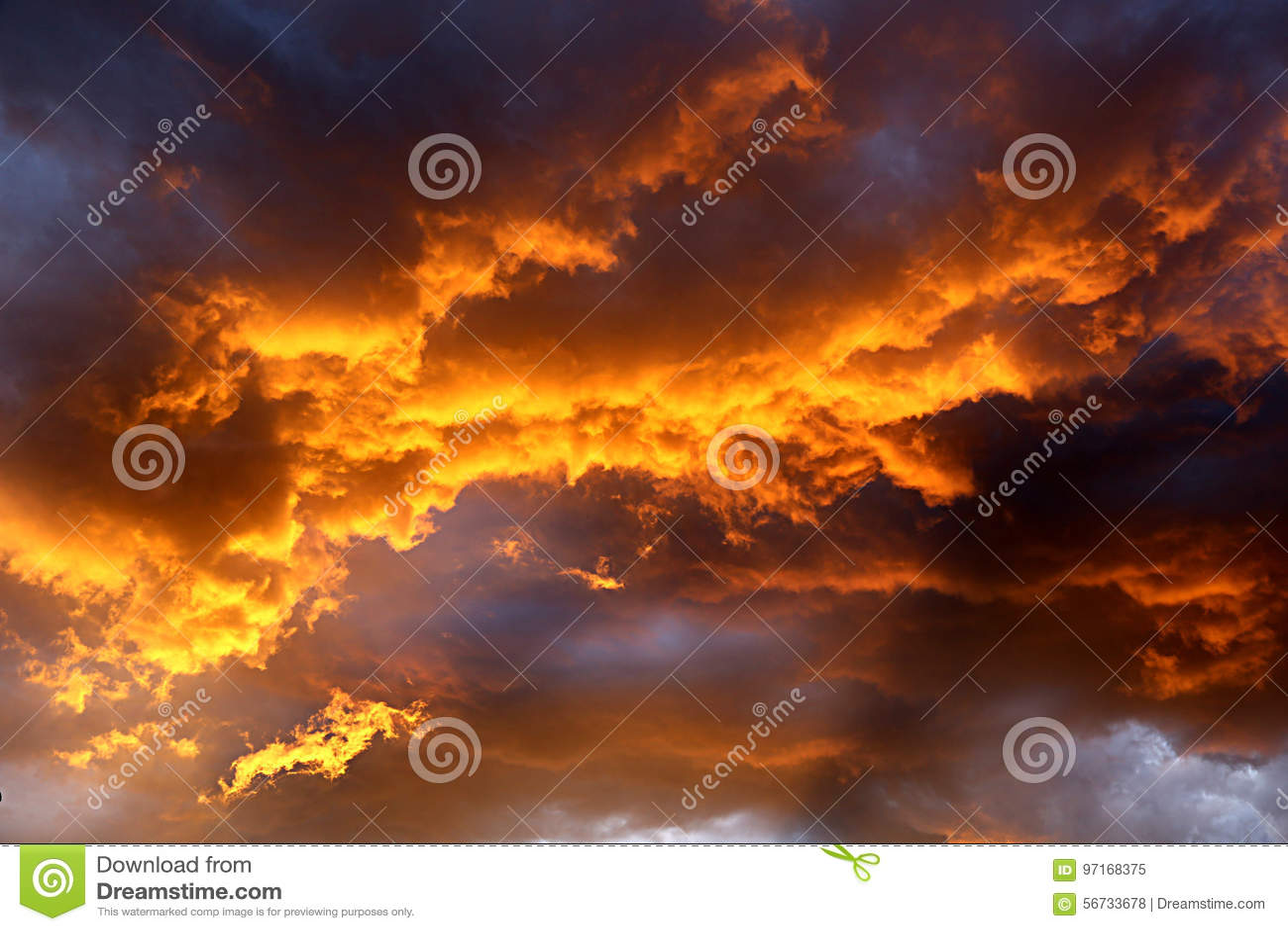Le feu dans le ciel