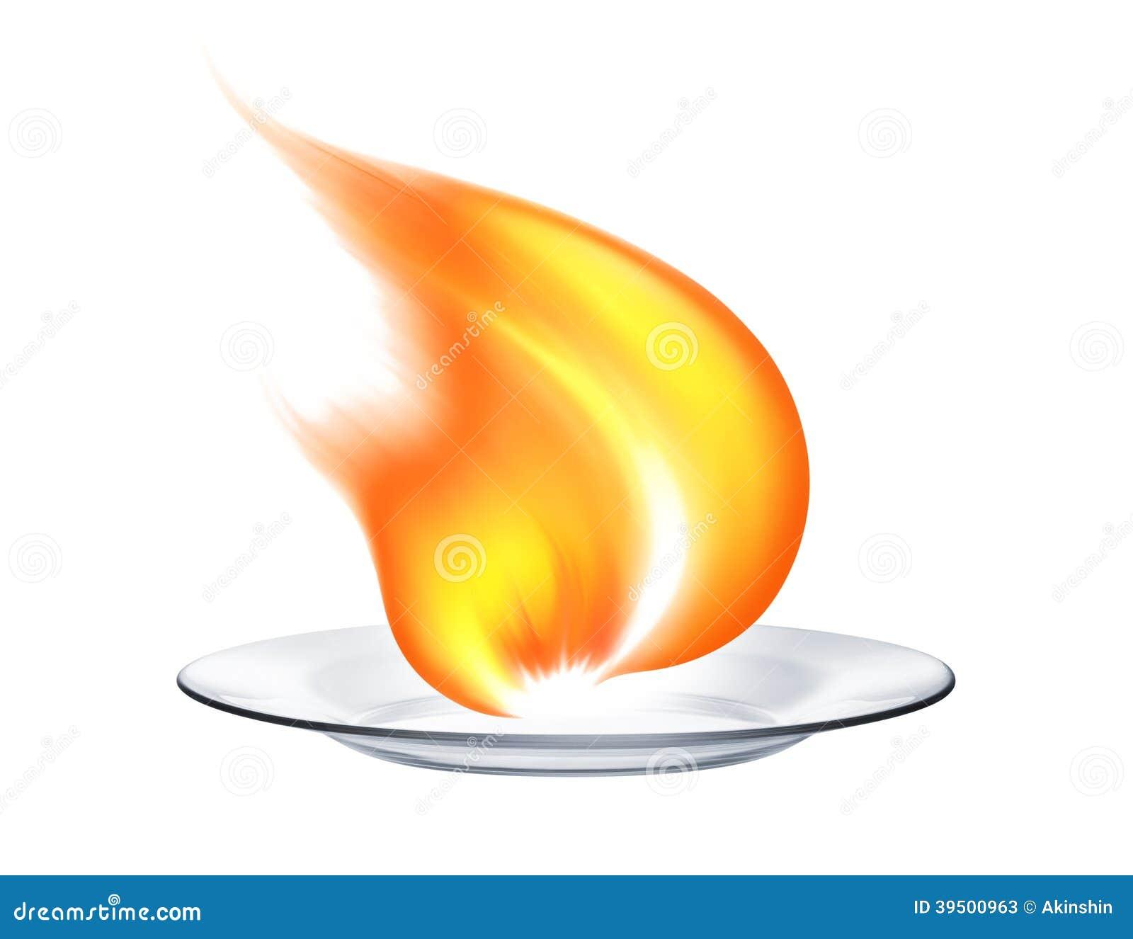 Le feu dans le plat