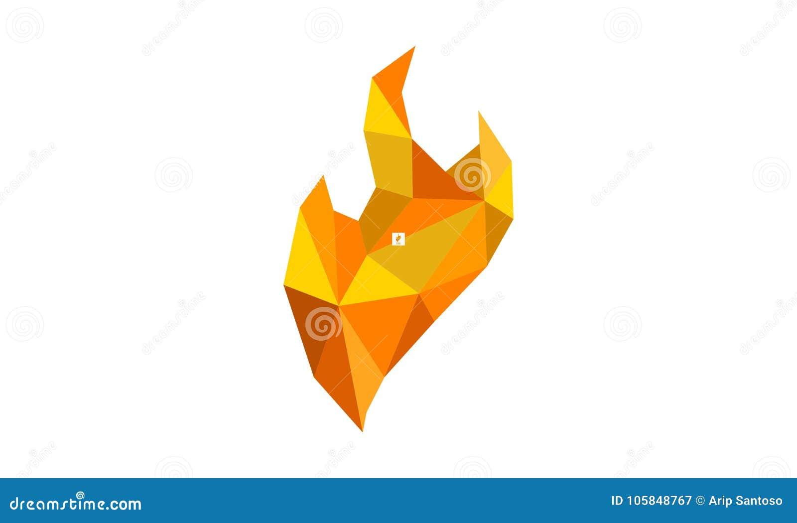 Le feu Diamond Logo Design Template