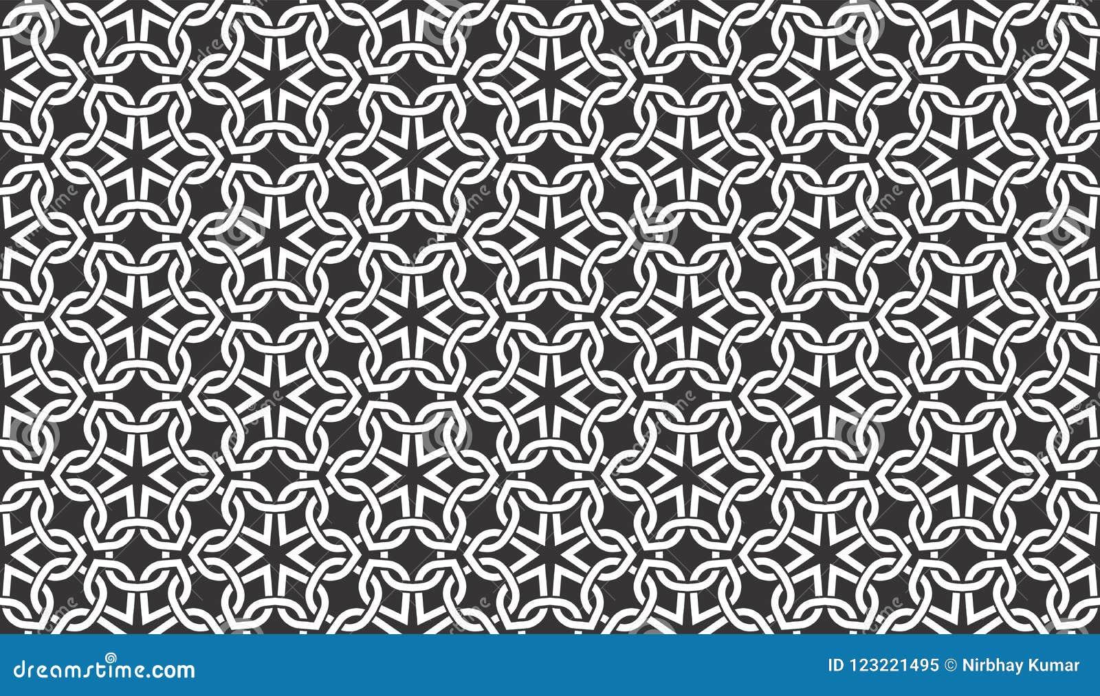 Le fil sans couture noir et blanc vérifie le modèle géométrique