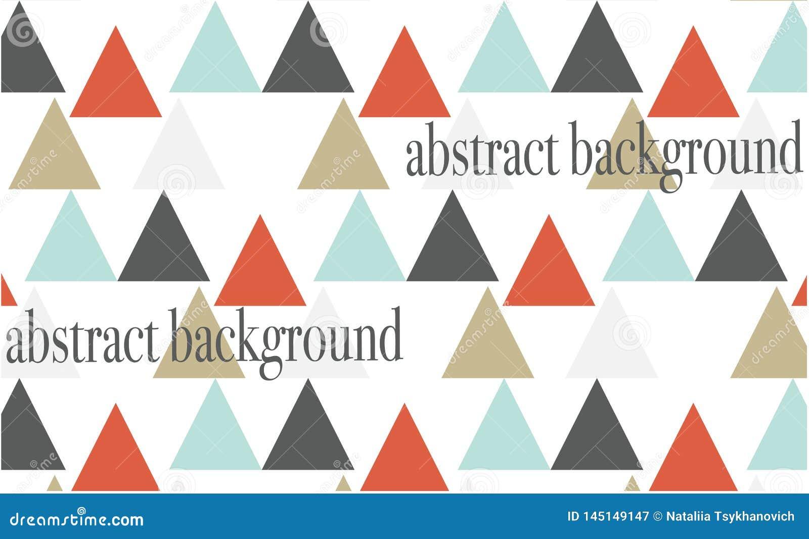 Le fond abstrait a coloré des triangles sur le fond blanc