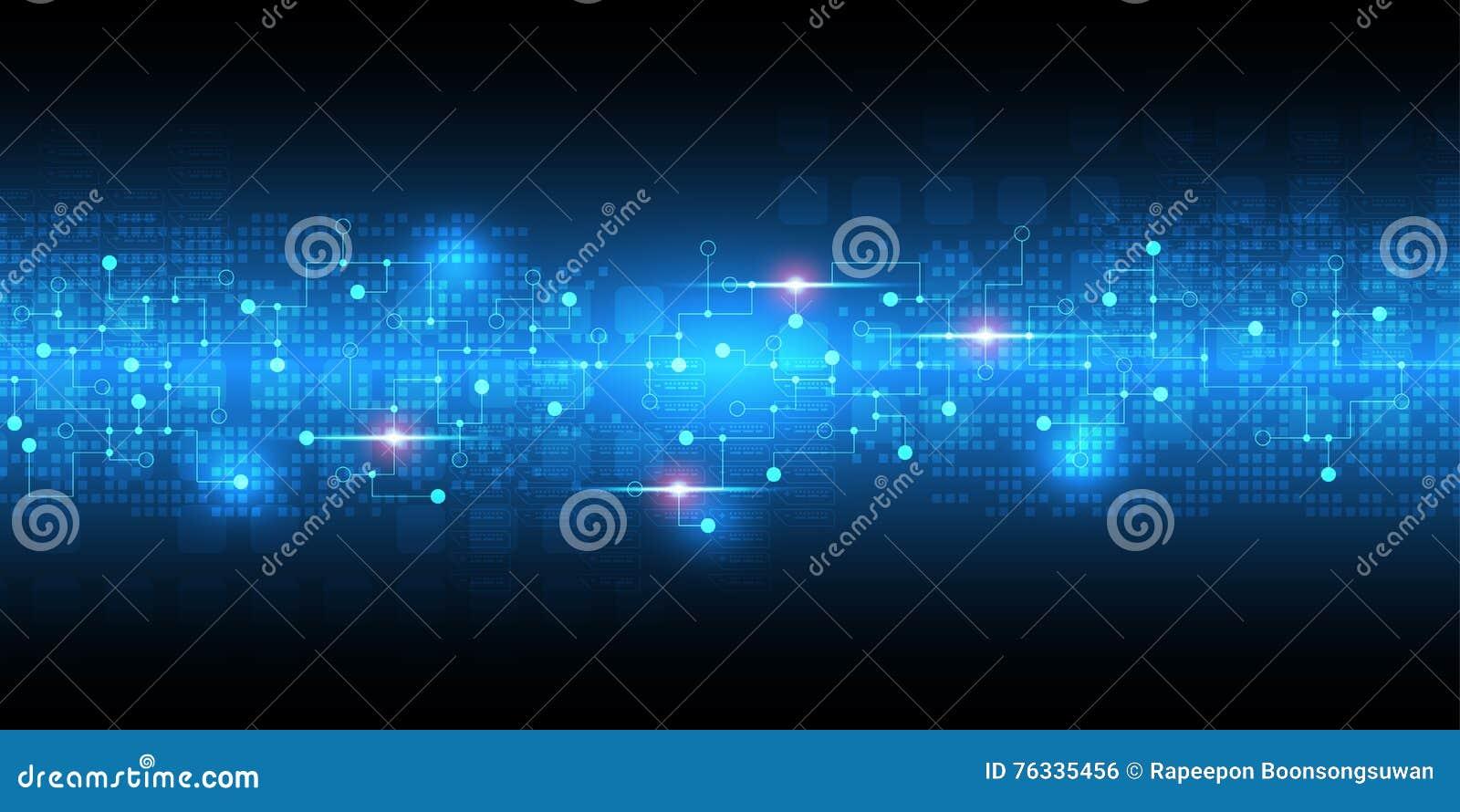 Le fond abstrait de vecteur montre l innovation de la technologie et des concepts de technologie