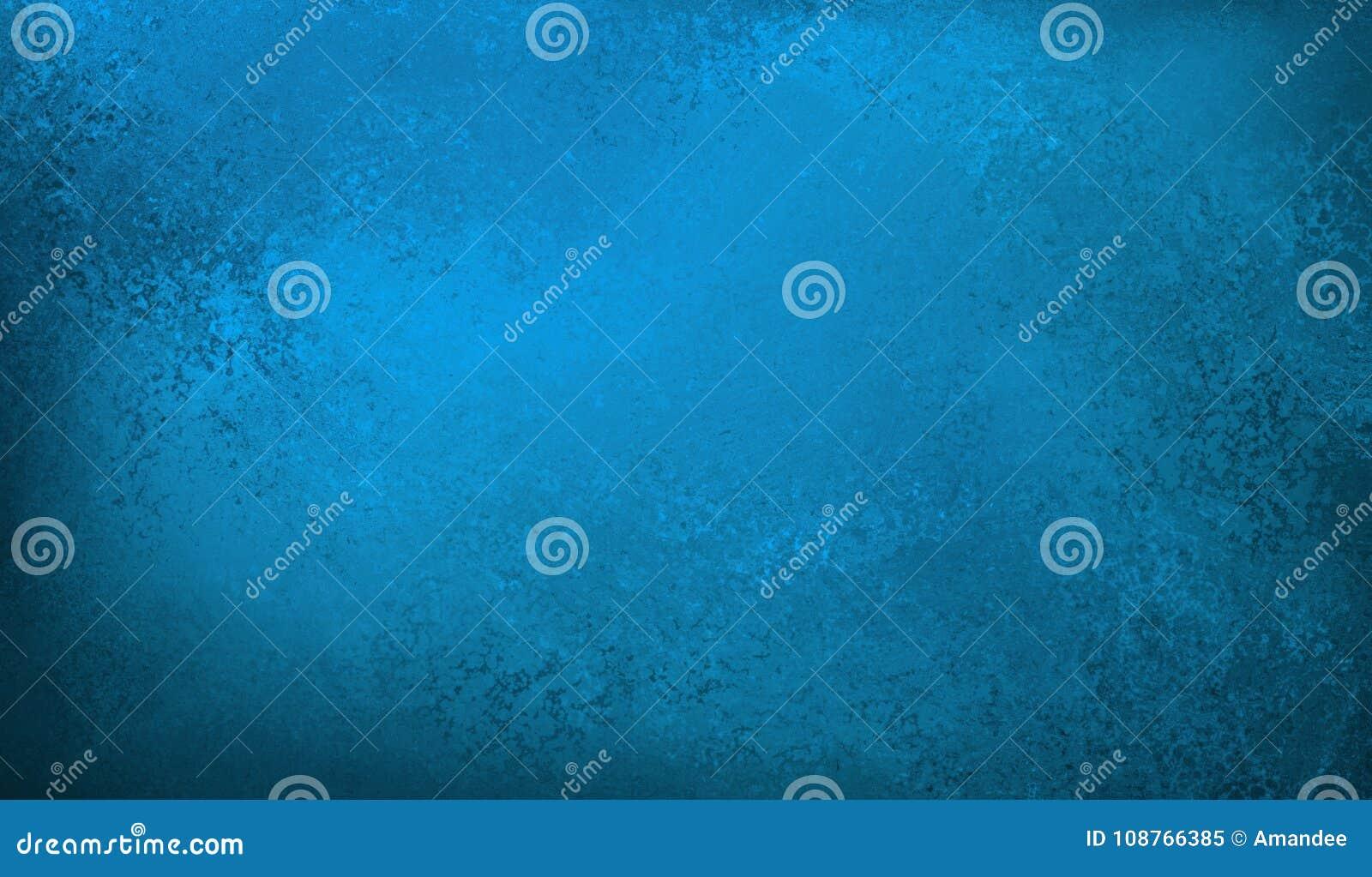 Le fond bleu avec la texture grunge de vintage dans le noir affligé a souillé la conception grunge