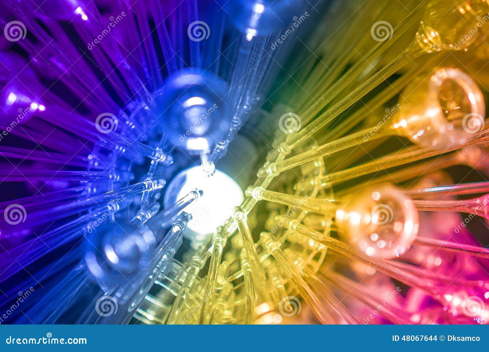 Le fond coloré de la science et technologie a mené la lumière d arc-en-ciel