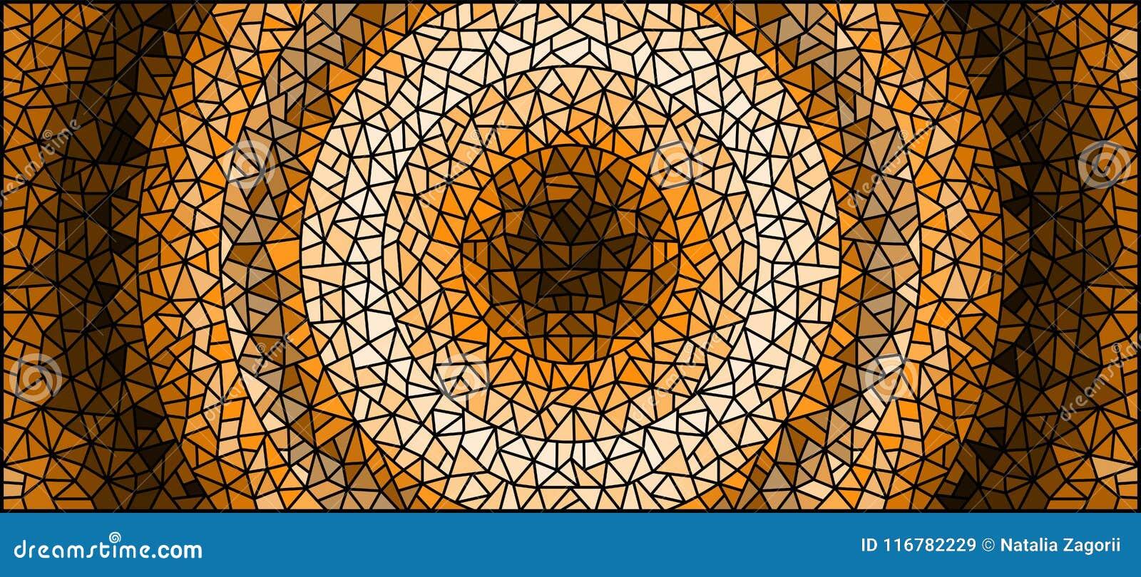 Le fond d abrégé sur illustration en verre souillé, monochrome, modifient la tonalité l image brune et horizontale