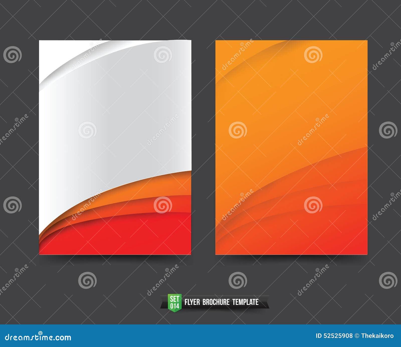 Le fond de brochure d insecte templated l élément de courbe de 014 oranges