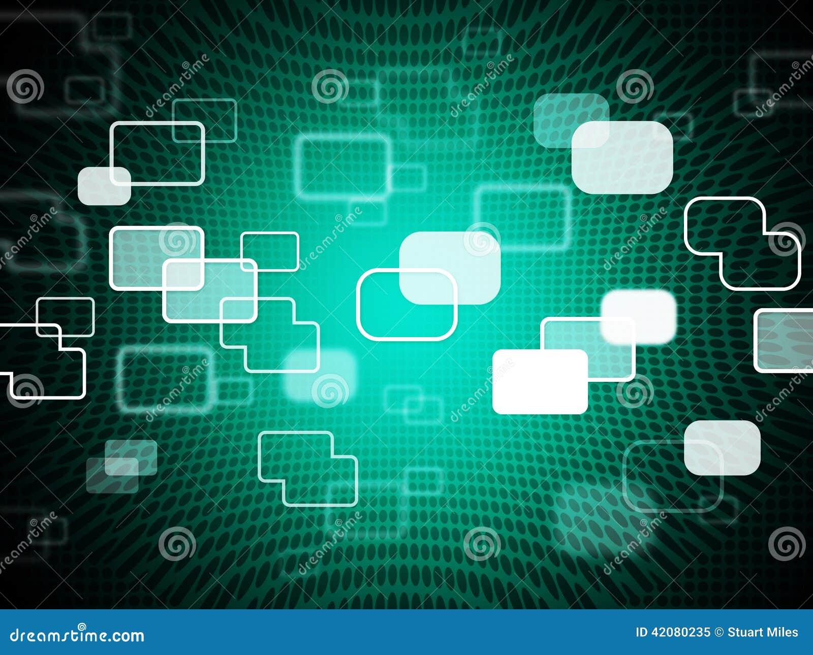Le Fond De Technologie Montre Le Service Informatique Et La ...