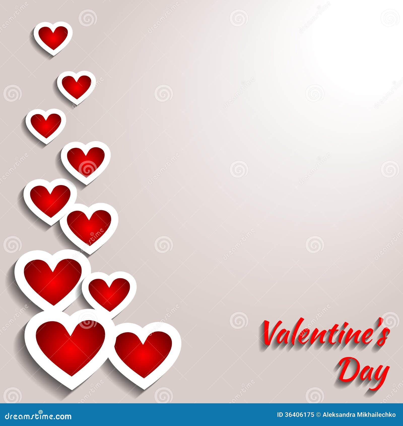 Le fond de valentine avec des coeurs illustration de vecteur illustration du conception - Coeur avec des photos ...