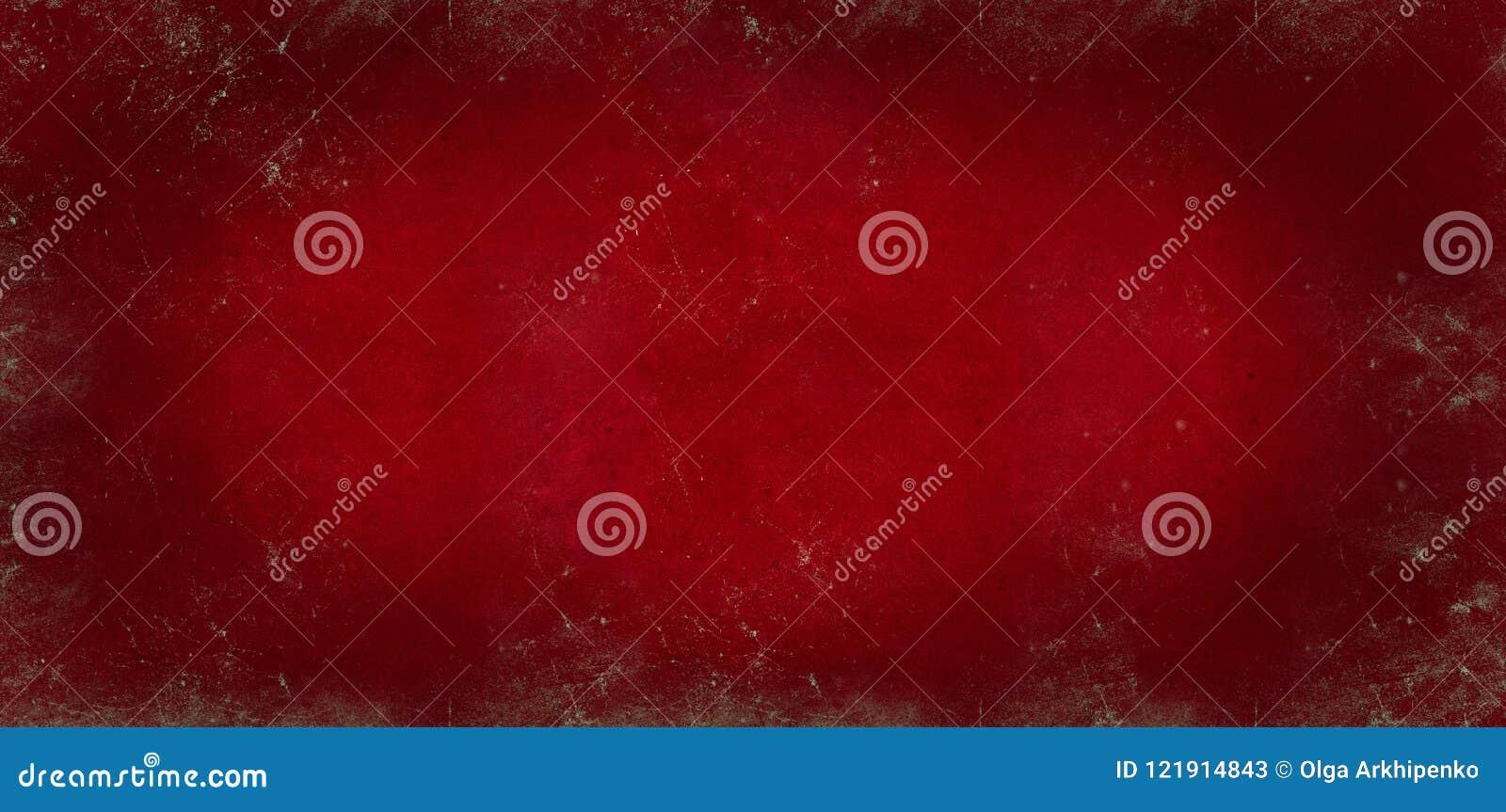 Le fond foncé rouge du tableau noir d école a coloré la texture ou la texture de papier rouge Fond âgé par blanc vignetted par no