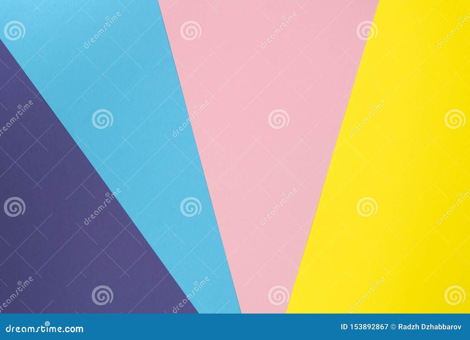 Le fond multicolore a fait de couleur de papier en pastel Disposition créative de fond coloré pour la conception Configuration pl