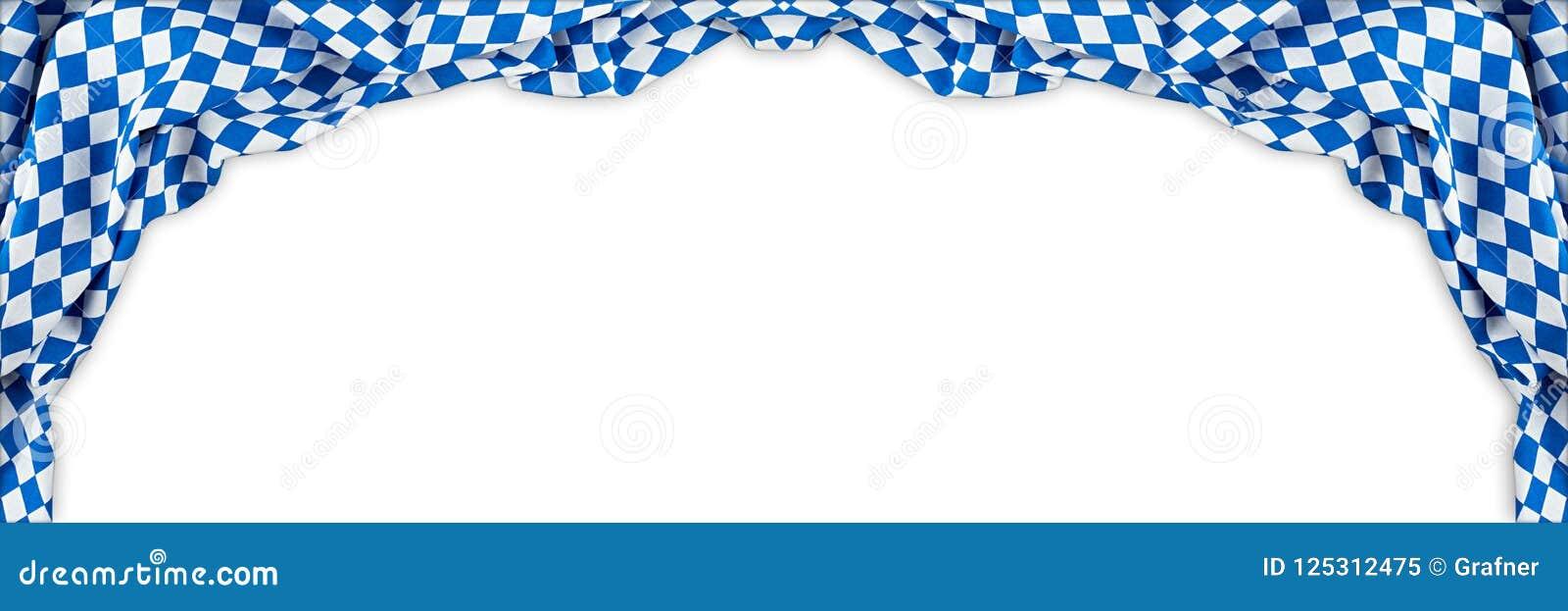 Le fond oktoberfest de panorama large bavarois de drapeau