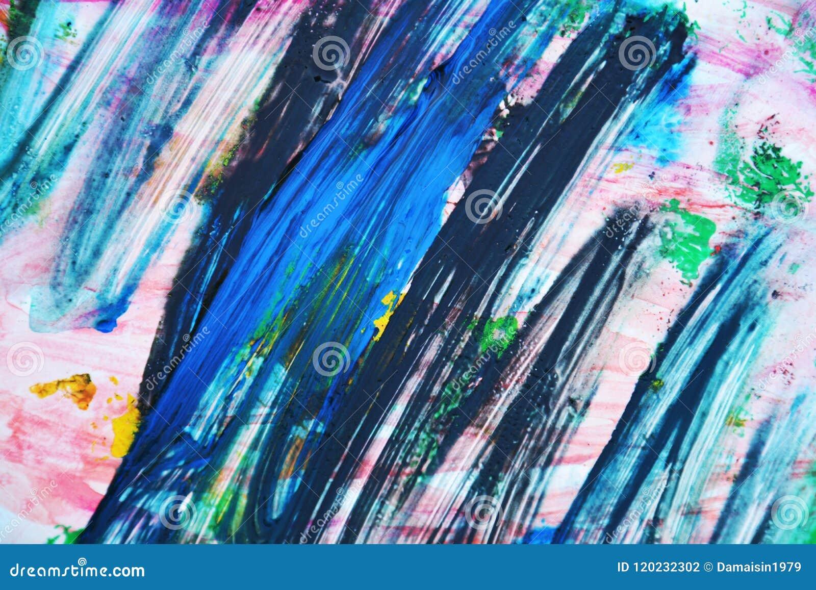 Le Fond Rose Abstrait De Peinture De Vert Bleu Couleurs Douces De